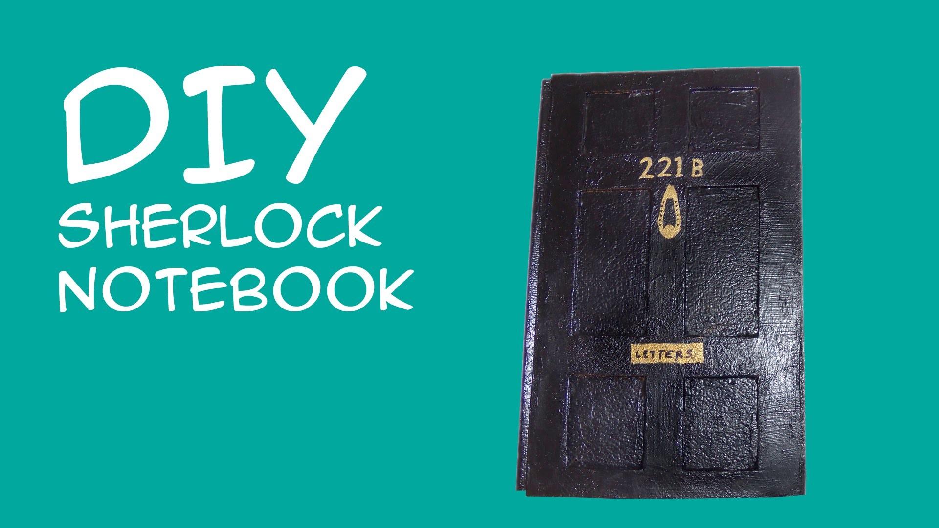 DIY Sherlock Notebook: 221b Baker Street Door Sketchbook (Sherlock Fandom)  CraftyMcFangirl.com