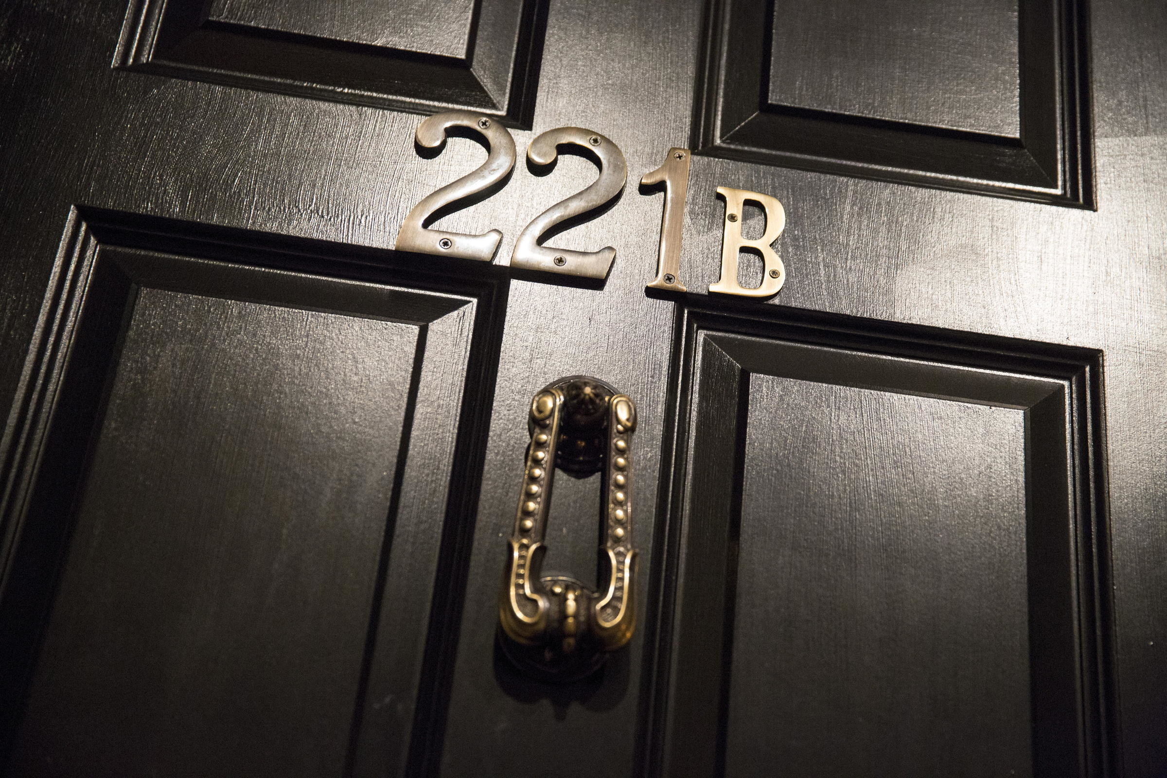 The Door Bearing The Number 221B Is Shown From A Sherlock Holmes-themed  Escape Room In Alexandria Virginia October 17 2015.