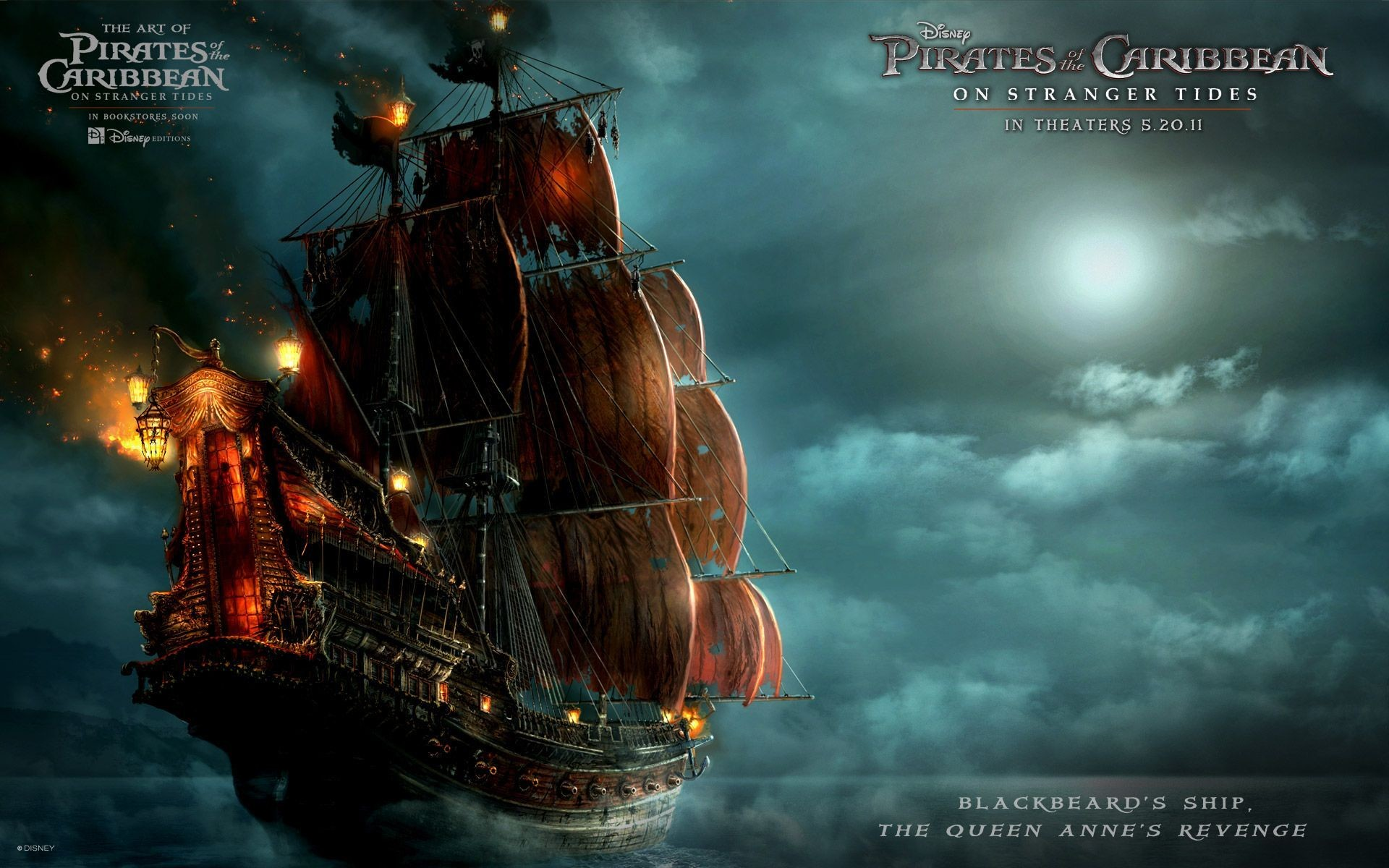 Blackbeards Ship in Pirates Of The Caribbean 4 Wallpapers