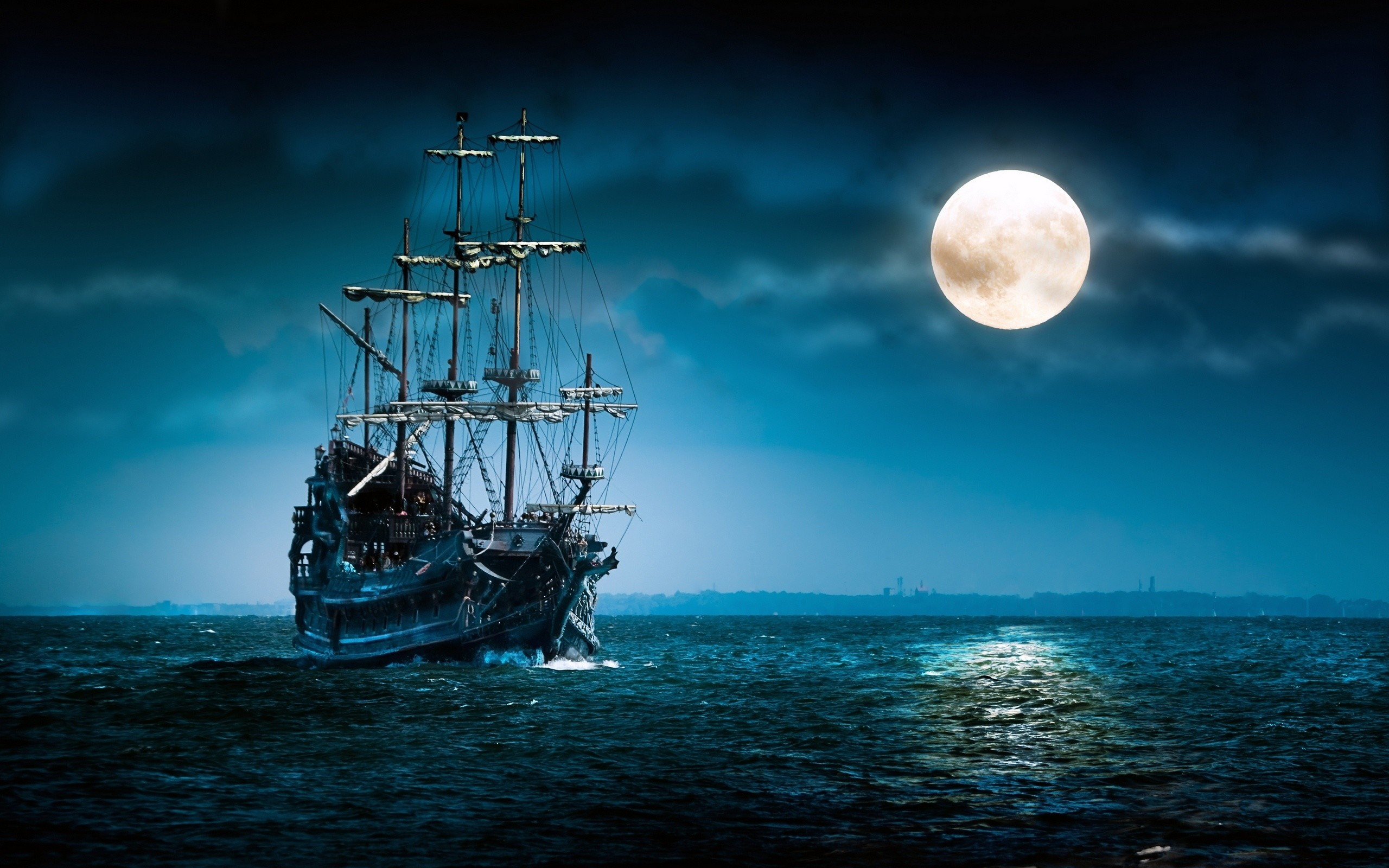 Ghost Pirate Ship Wallpaper