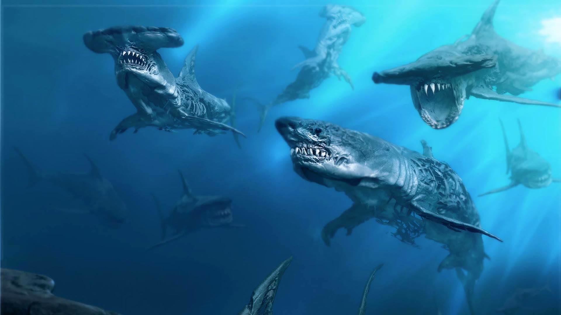 Pirates of the Caribbean 5 Ghost Sharks wallpaper