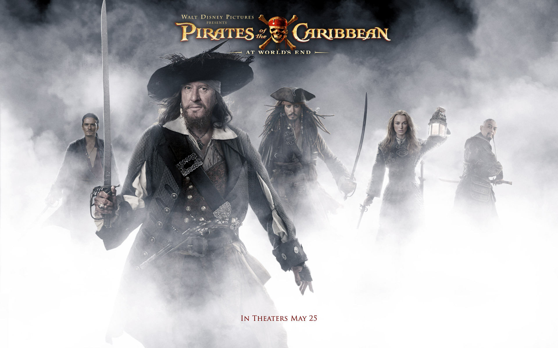Movie – Pirates Of The Caribbean: At World's End Geoffrey Rush Hector  Barbossa Johnny Depp
