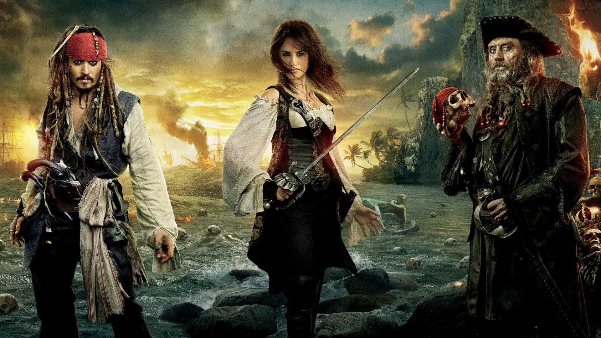 Movie – Pirates of the Caribbean: On Stranger Tides Jack Sparrow Johnny  Depp Angelica Teach