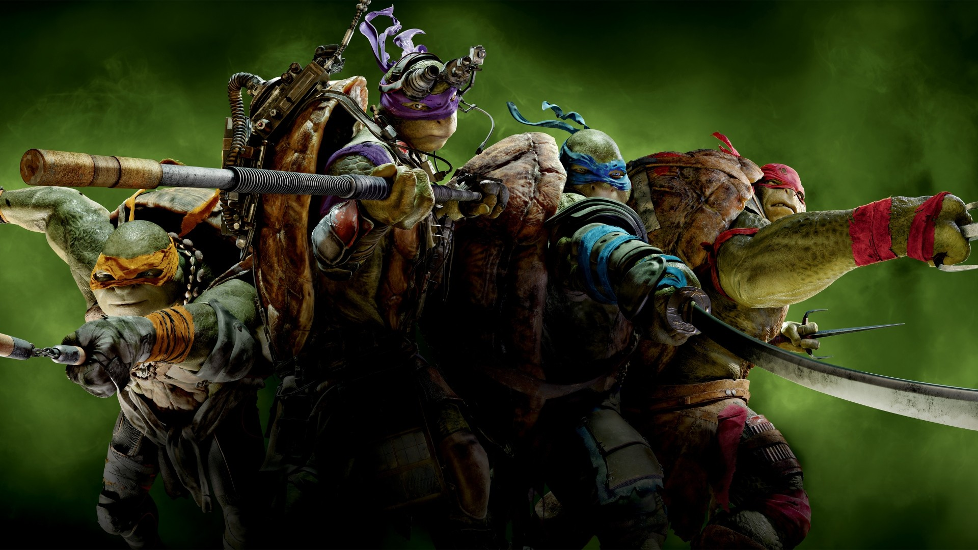 Preview wallpaper teenage mutant ninja turtles, raphael, michelangelo,  leonardo, donatello 1920×1080
