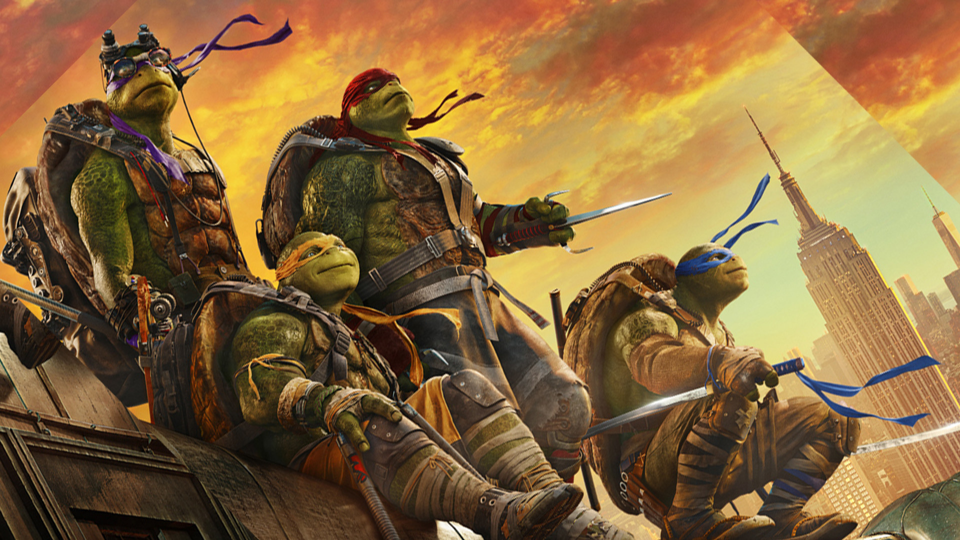 Teenage Mutant Ninja Turtles Out Of The Shadows Background Wallpaper