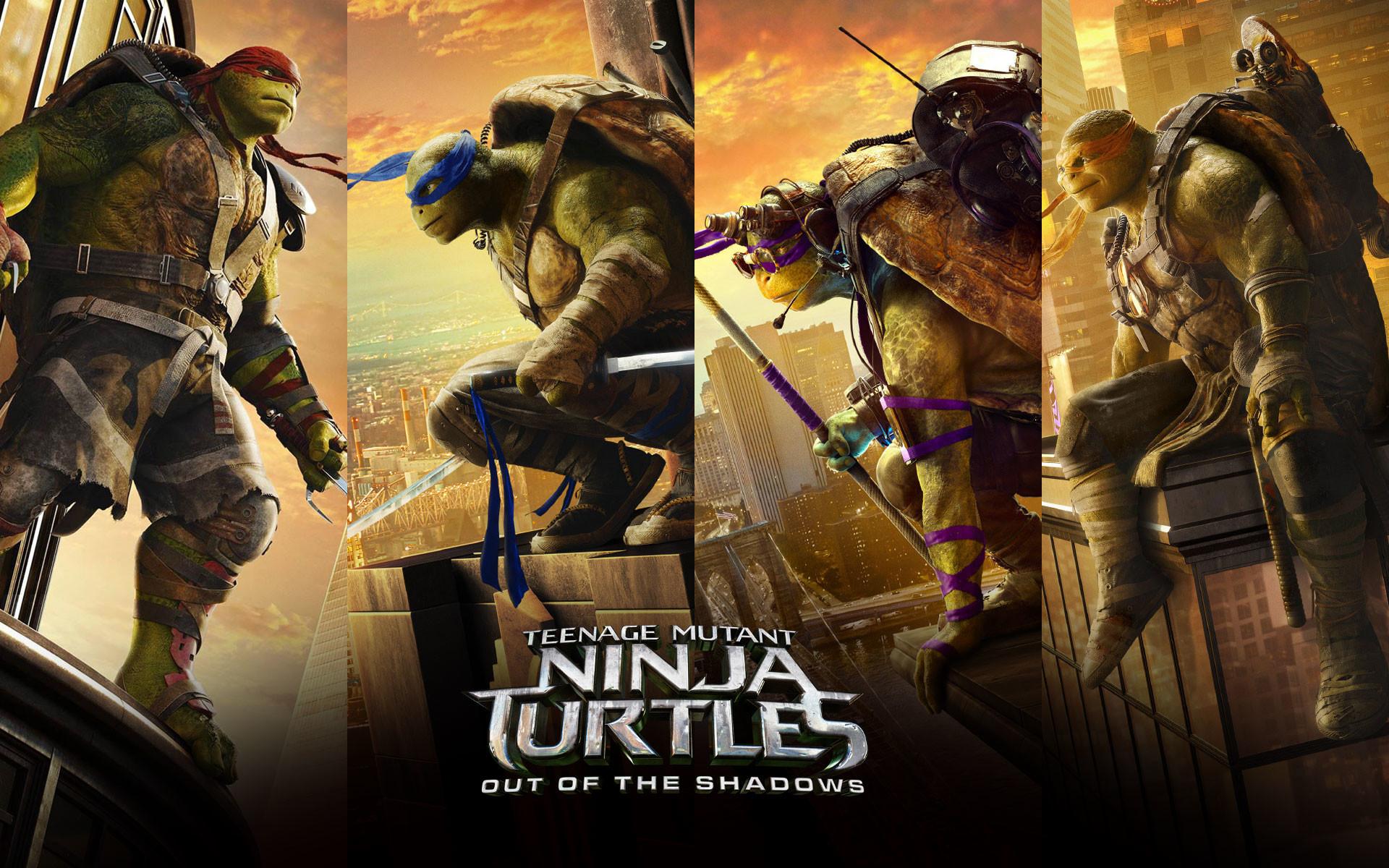 Donatello, Leonardo, Michelangelo, Raphael Official Wallpaper.  TMNT_2_Teenage_Mutant_Ninja_Turtles_2016_Wallpaper_HD_1920_x_1200_px