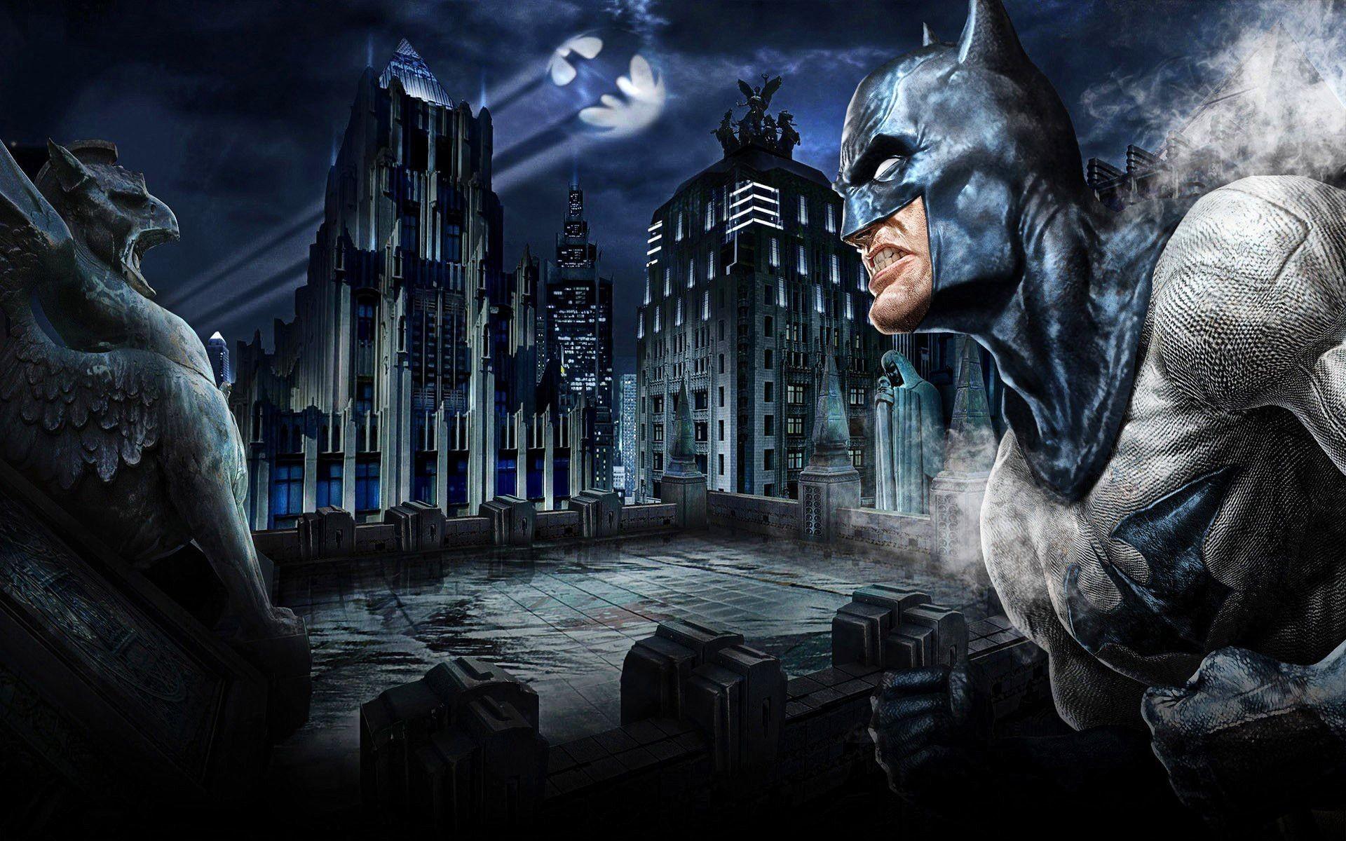 Batman Gotham City Background Wallpaper 26969 Hi-Resolution | Best .