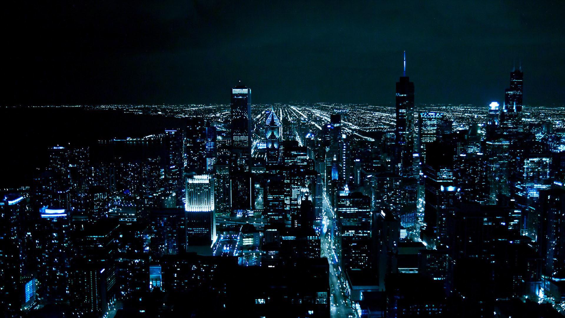 Gotham City at Night wallpaper