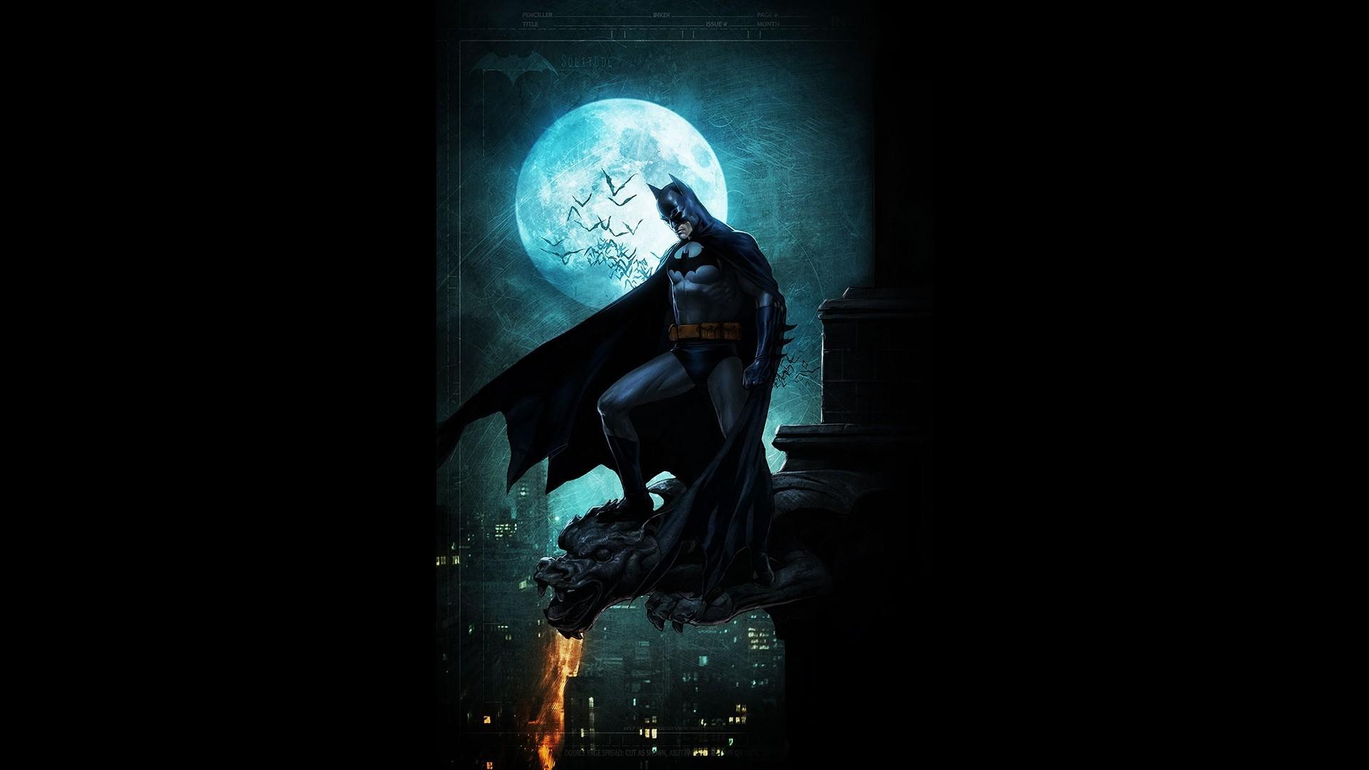 Gotham City · fan art · black background