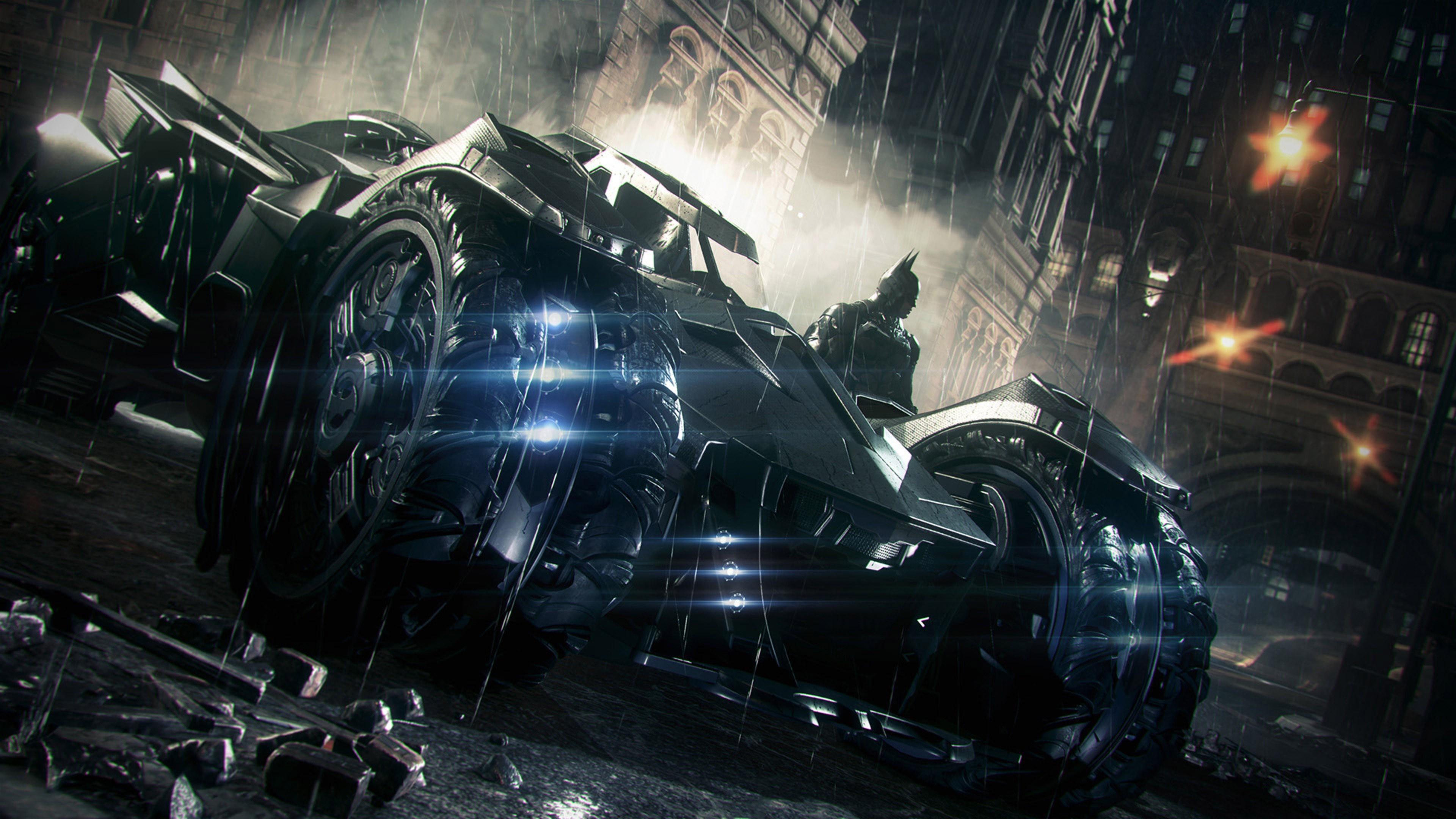 Batman: Arkham Knight, Rocksteady Studios, Batman, Batmobile, Gotham City,  Video