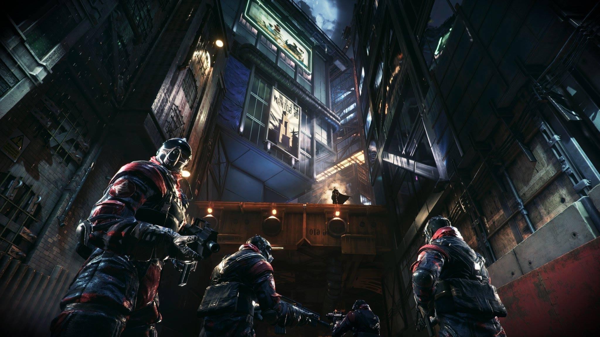 Batman, Gotham City, Batman: Arkham Knight, Fire, Street, Building  Wallpapers HD / Desktop and Mobile Backgrounds