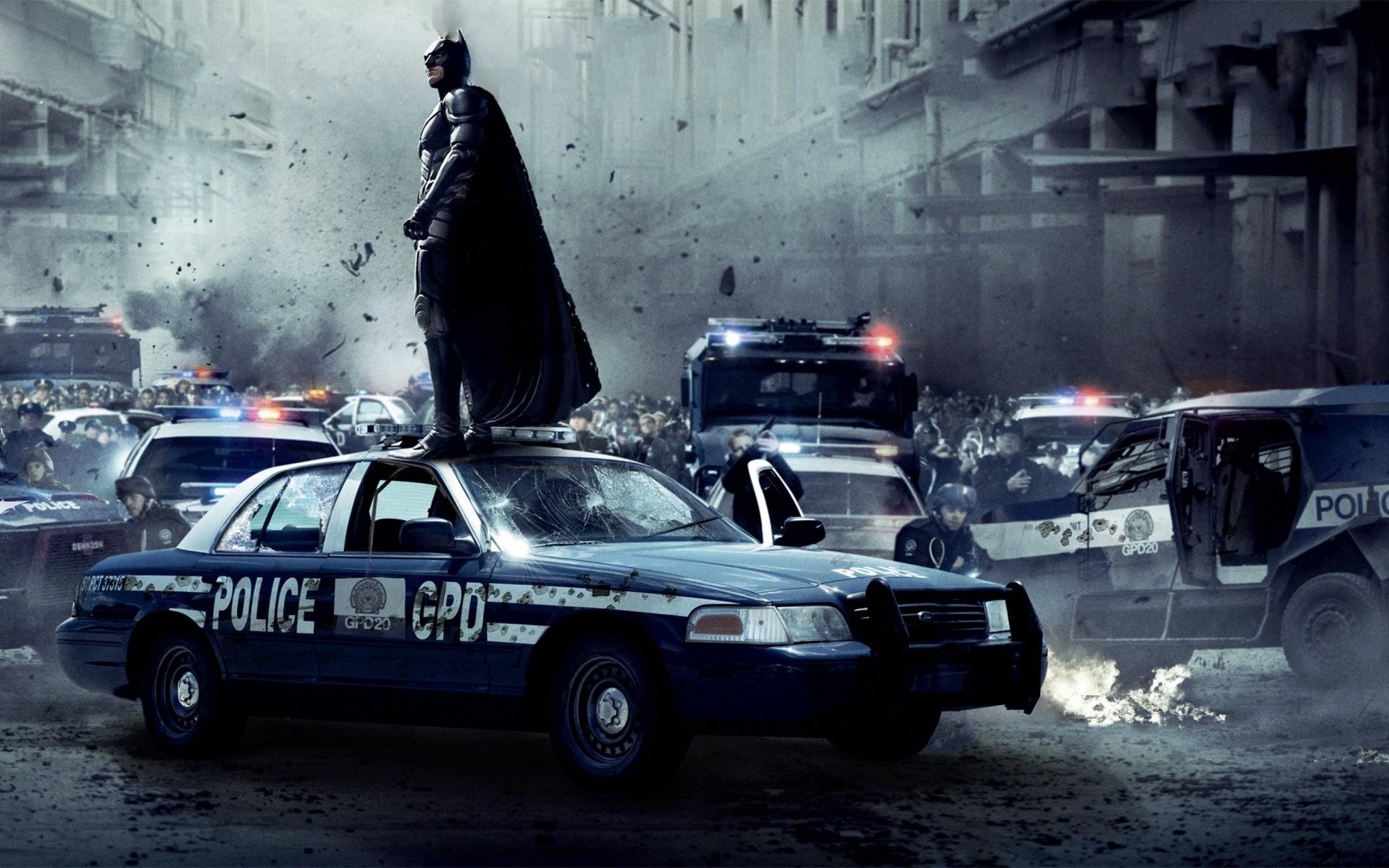 batman riot christian bale gotham city police cars batman the dark knight  rises 1741×1088 wallpap Art