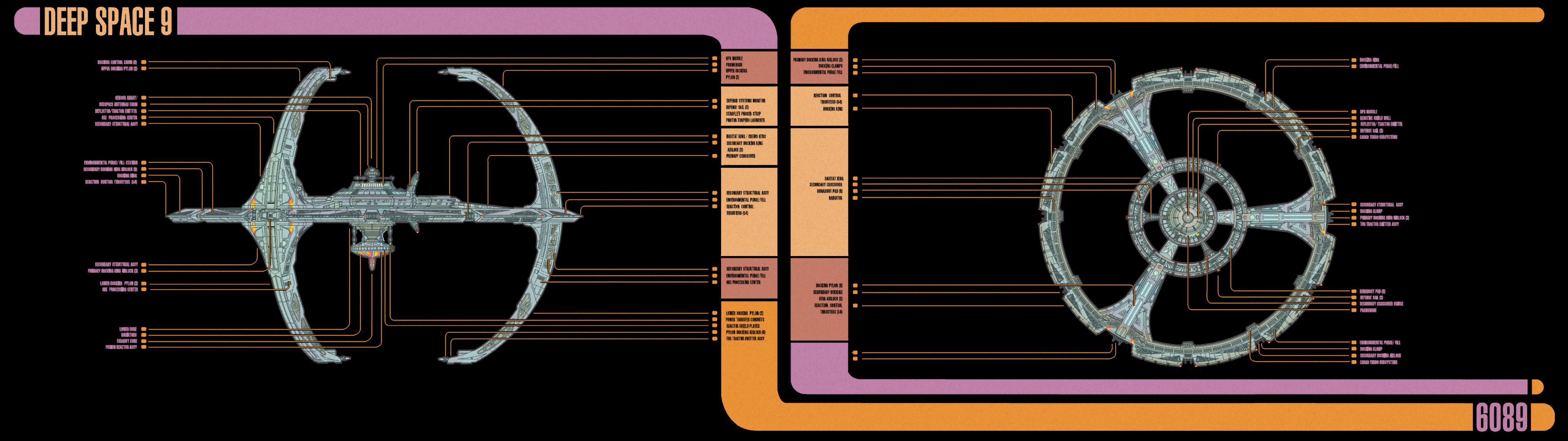 Star Trek DS9 MSD dual-screen wallpaper