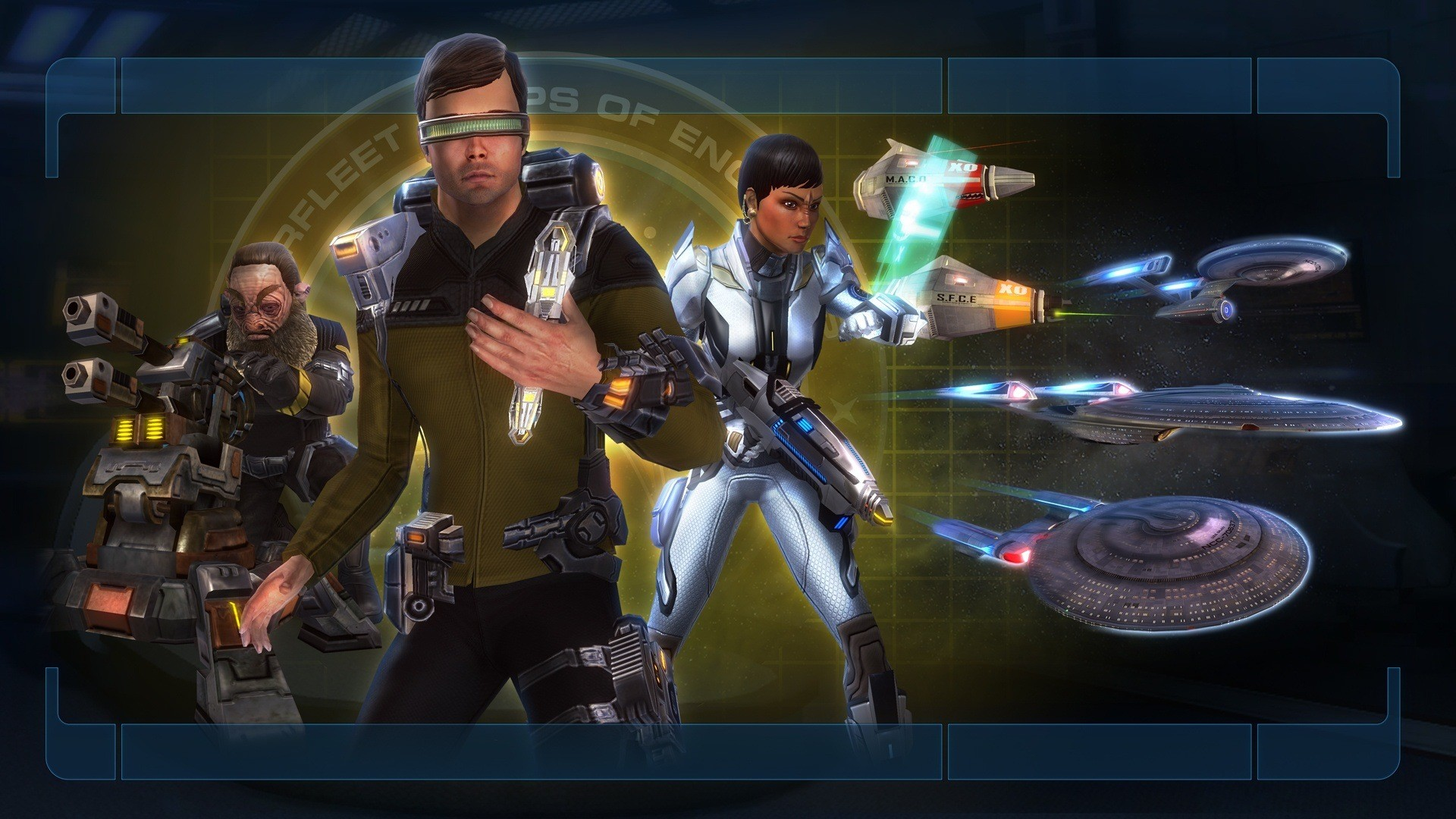 Dual Screen Star Trek Online Wallpaper