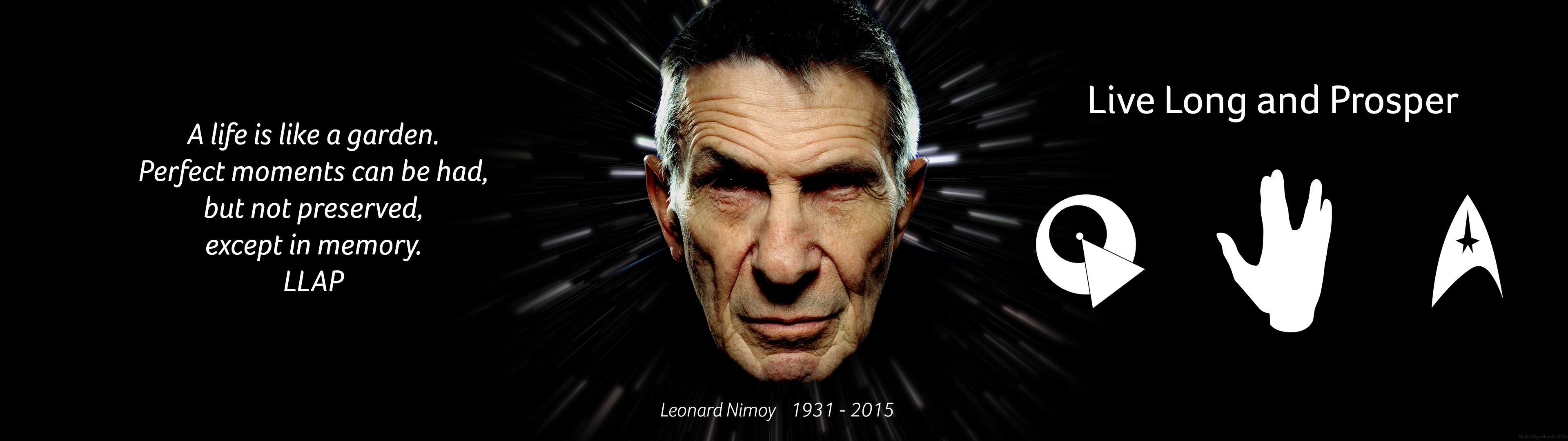 Leonard Nimoy tribute, dual screen [3840×1080] …