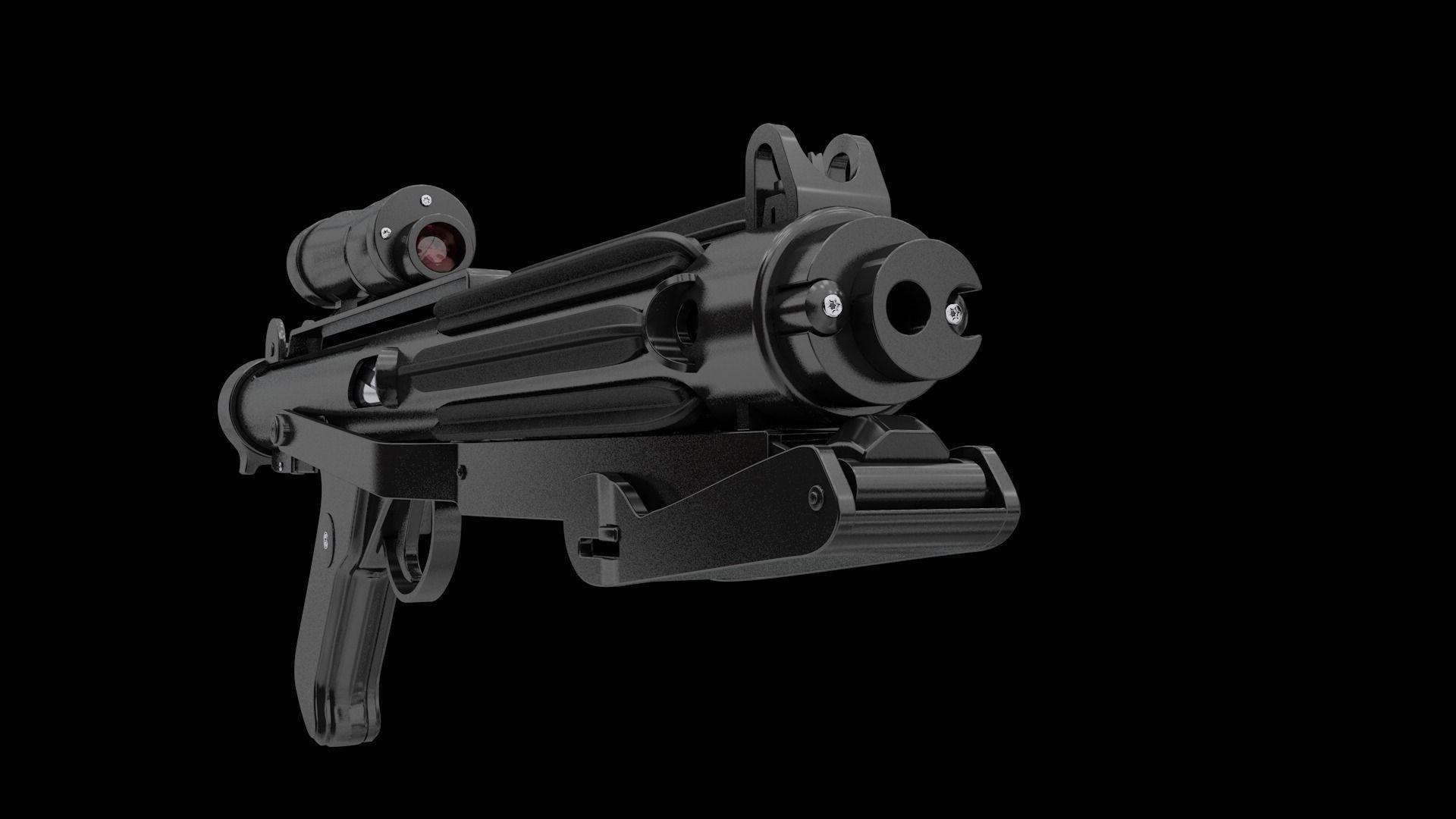 … e11 imperial stormtrooper blaster 3d model 3ds c4d stl 3 …
