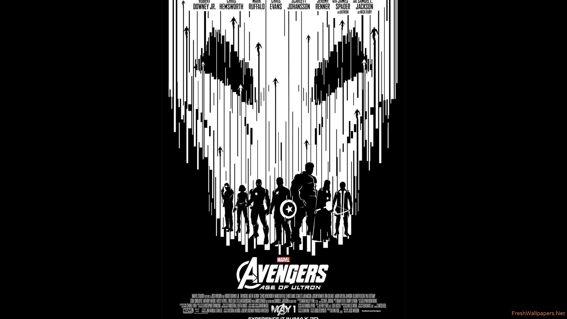 Avengers-age-of-ultron-black-and-white-imax Wallpaper