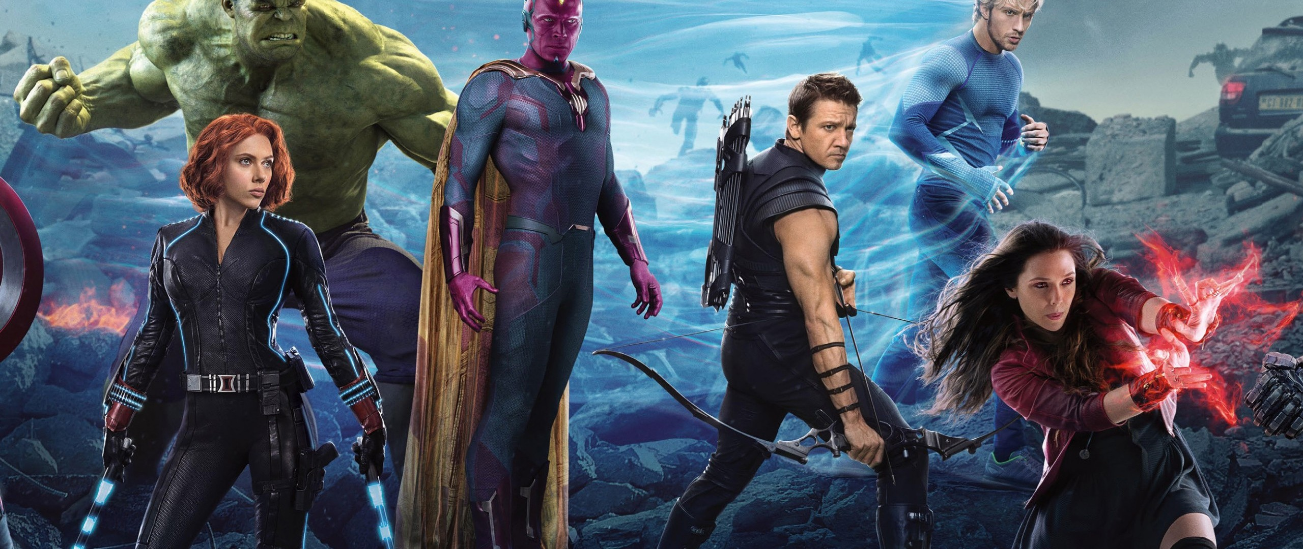 Preview wallpaper avengers, avengers age of ultron, thor, captain america,  black widow