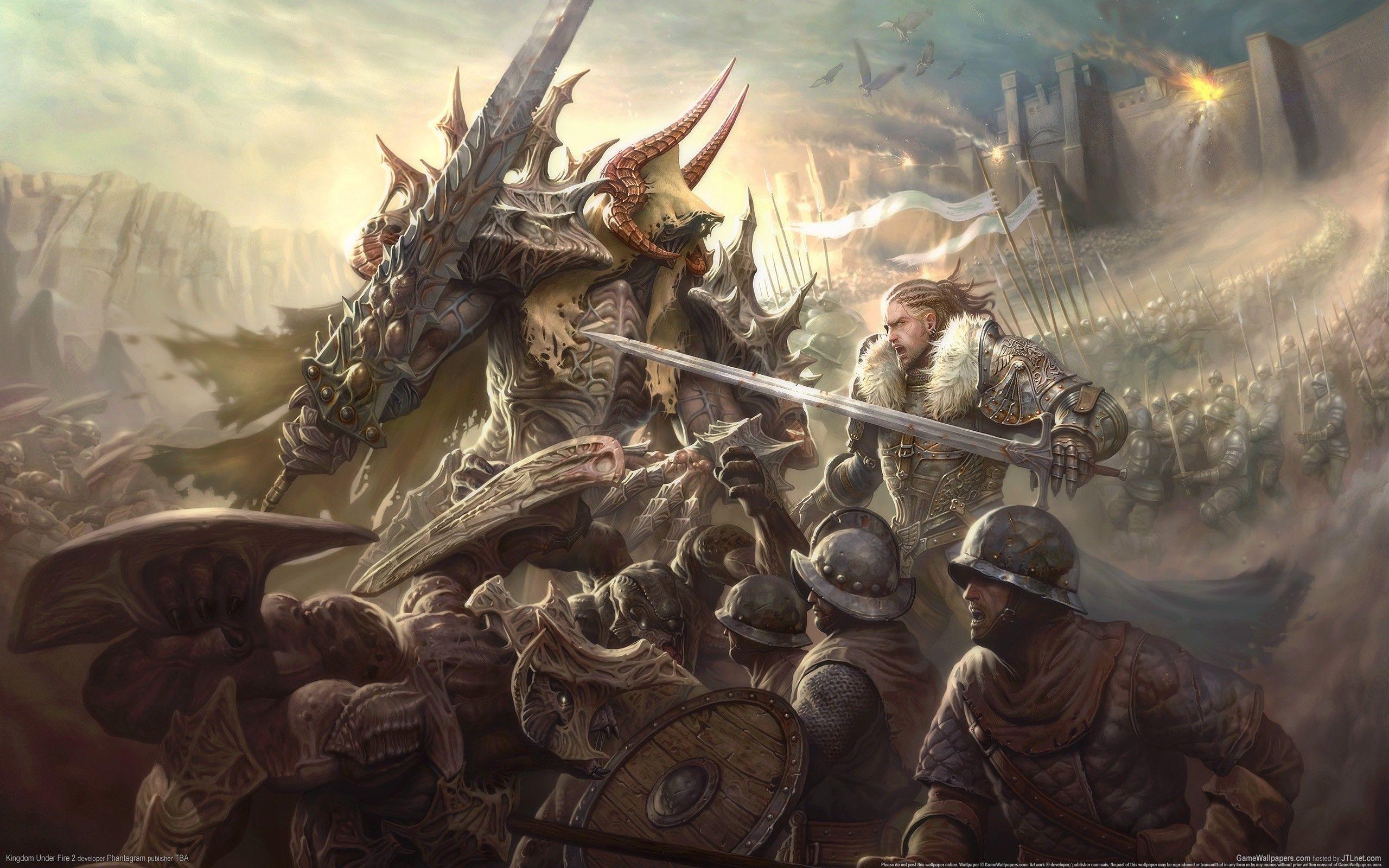 Video Games Kingdom Under Fire 3D : Desktop and mobile wallpaper .