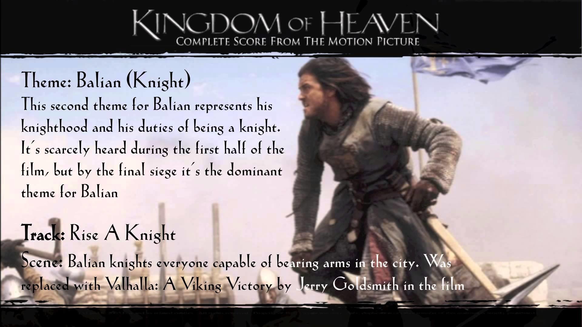 Kingdom of Heaven Soundtrack Themes – Balian (Knight)