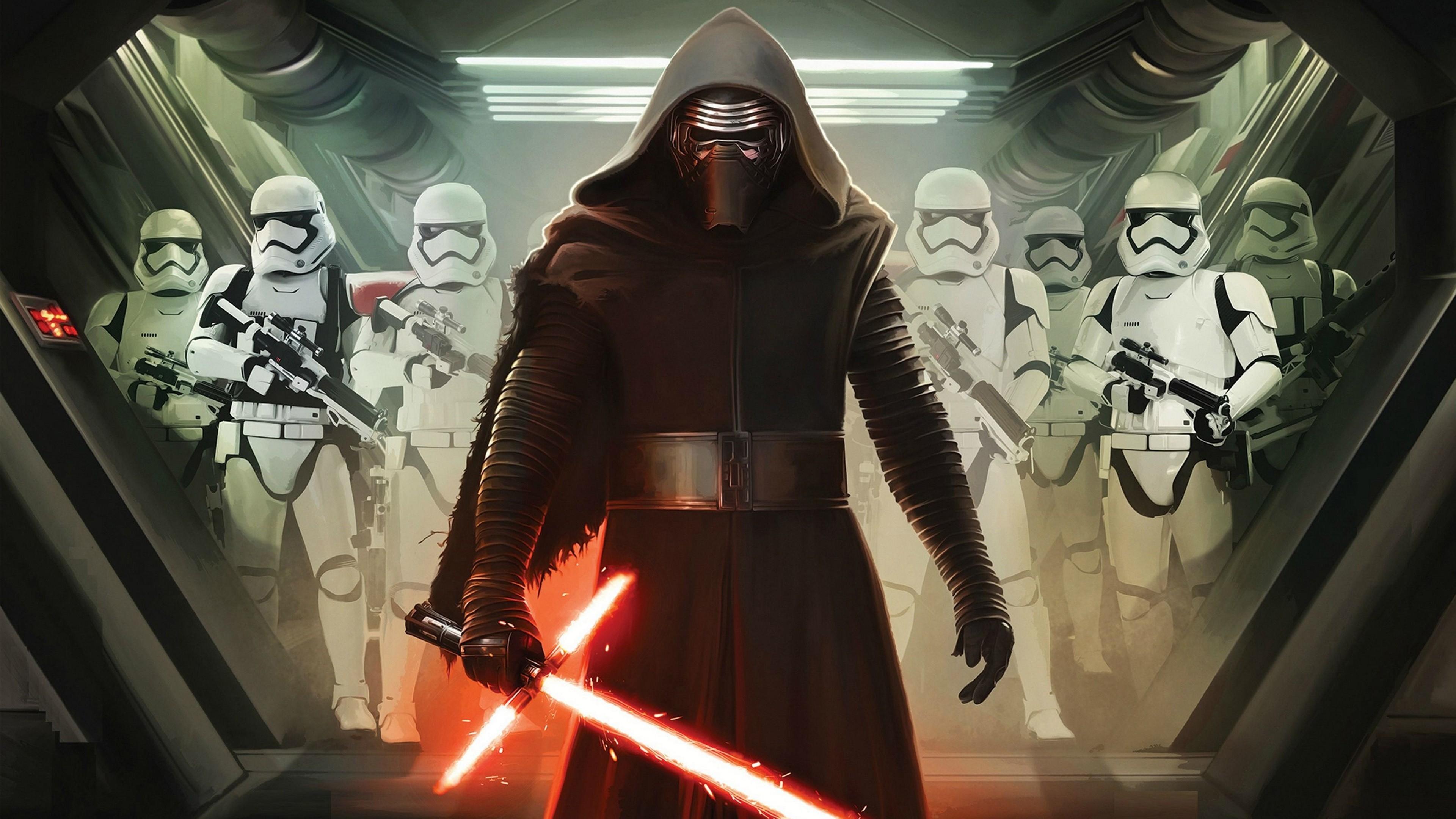 Star Wars Episode VII: The Force Awakens – Kylo Ren & Stormtroopers Poster