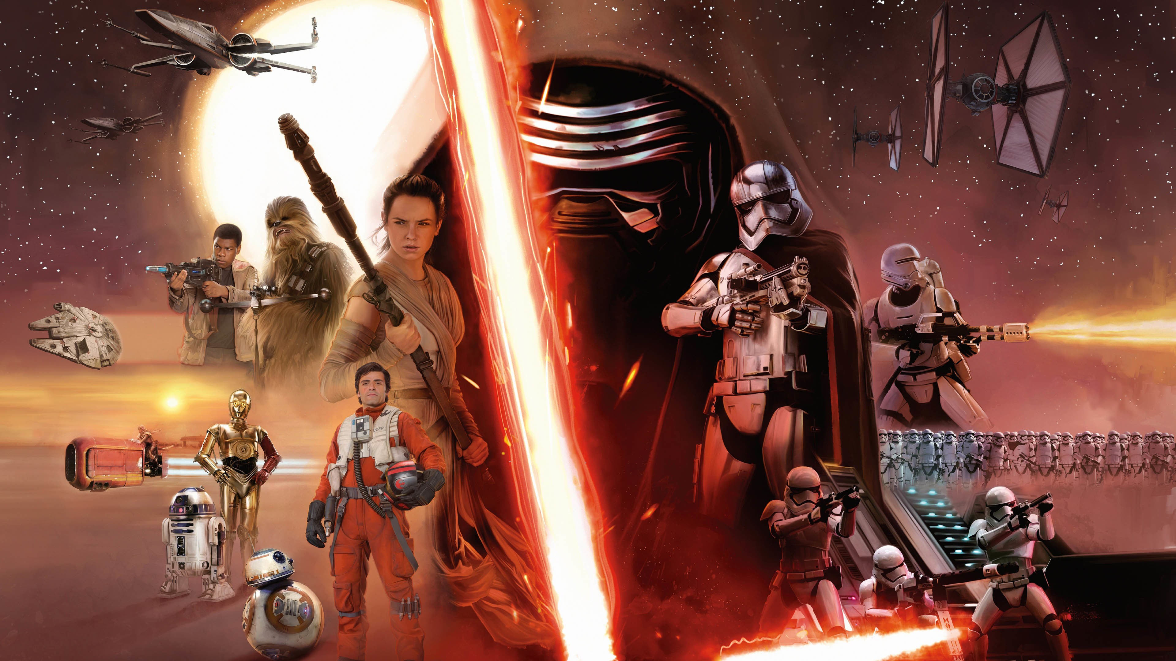 Star Wars, Episode 7: The Force Awakens Characters wallpaper