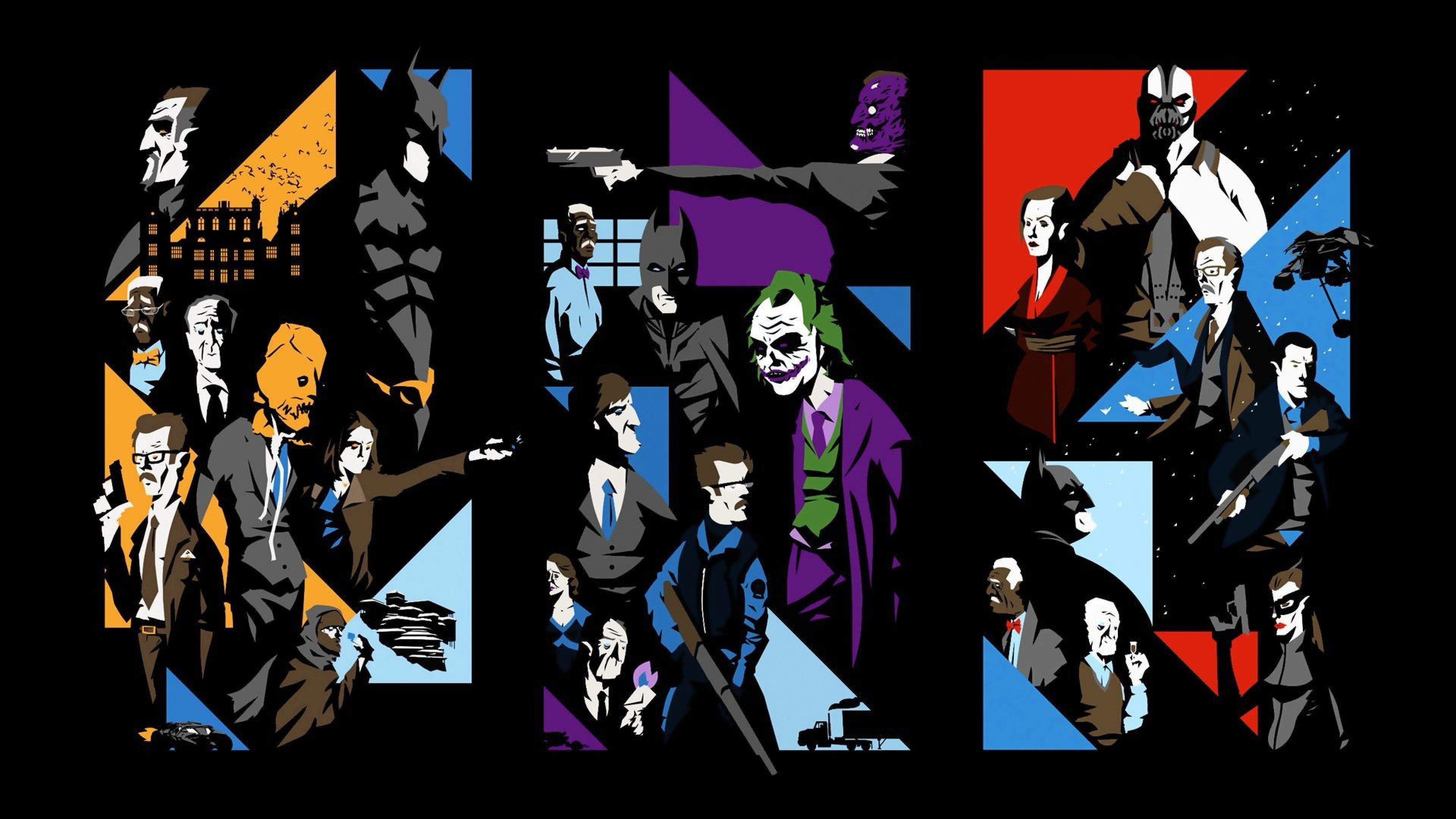 Wallpaper the dark knight, the dark knight rises, batman begins,  characters,