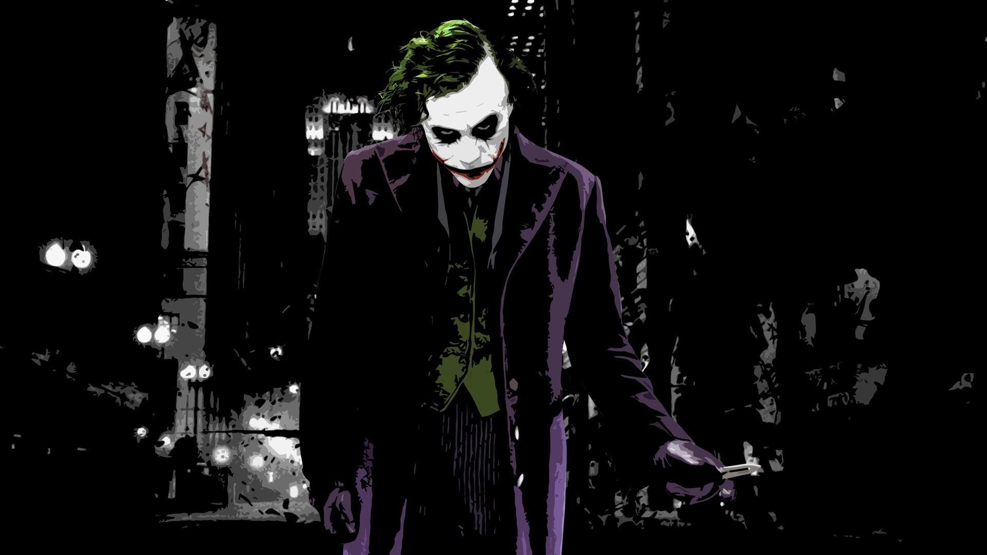 digital Art, Batman Begins, Joker, Knife, Butterfly Knives, Batman,  Painting, The Dark Knight Wallpapers HD / Desktop and Mobile Backgrounds