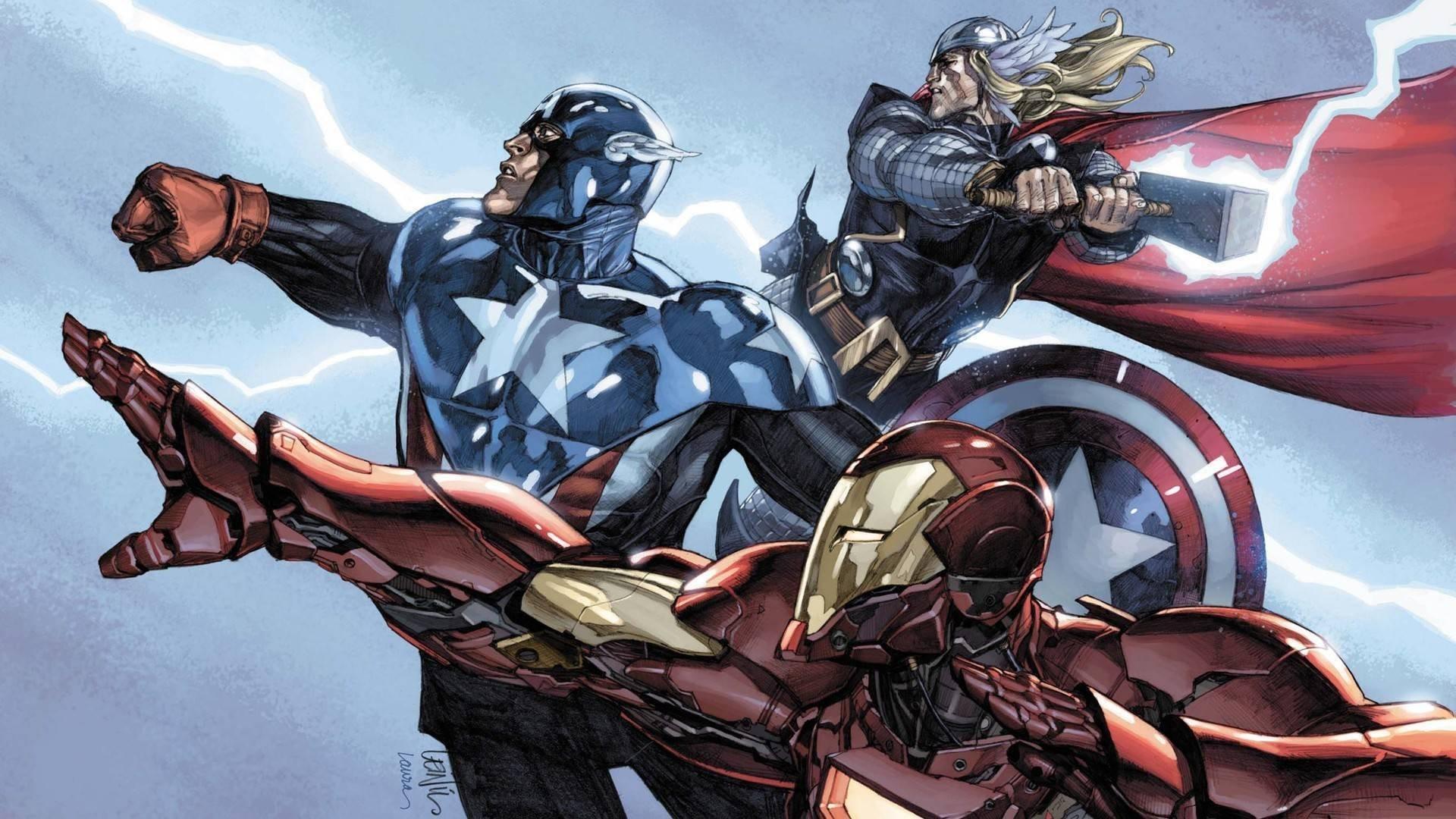 avengers captain america torr iron man team