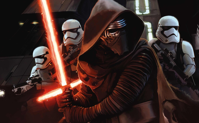 Star Wars: Episode VII The Force Awakens, Artwork, Kylo Ren, Stormtrooper