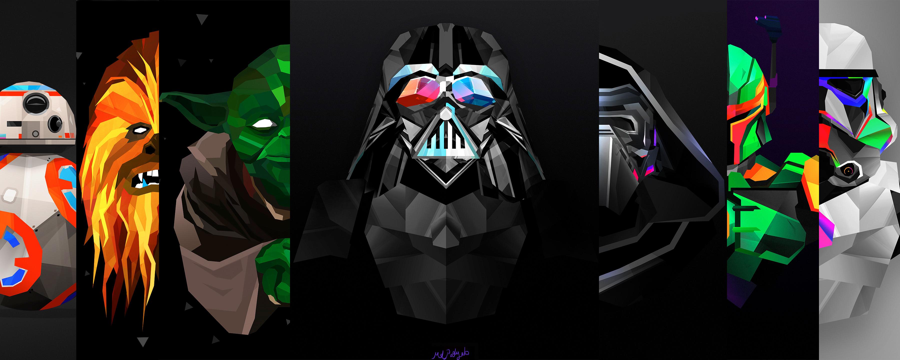 Movie – Star Wars Episode VII: The Force Awakens Darth Vader Stormtrooper  Yoda BB-