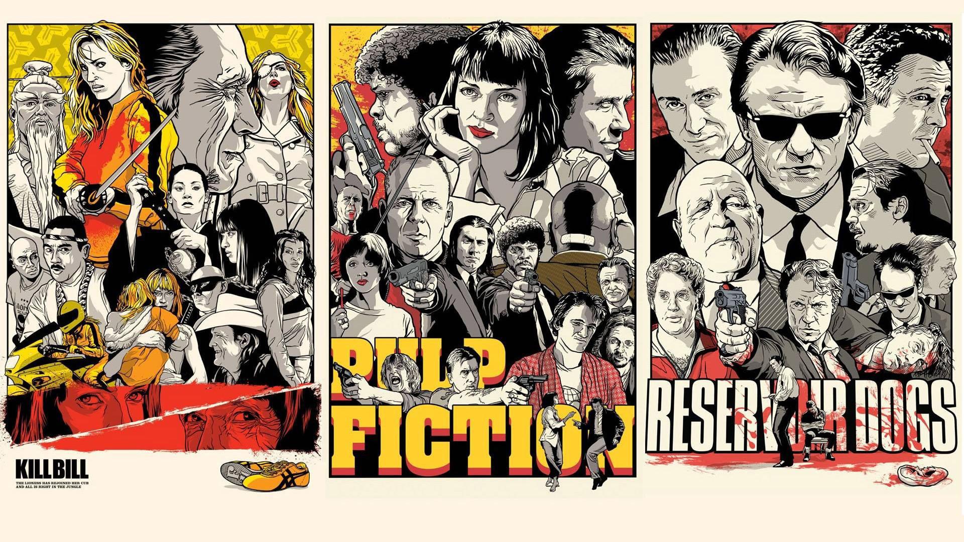 Preview wallpaper quentin tarantino, pulp fiction, kill bill, reservoir  dogs 1920×1080