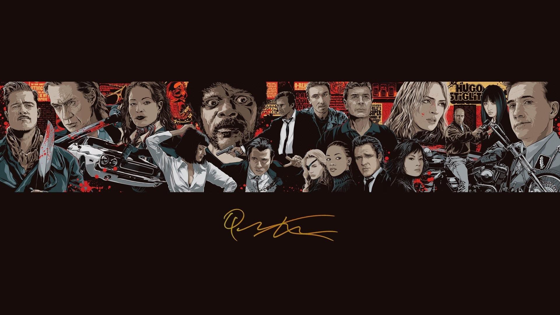 Brad Pitt Bruce Willis Christoph Waltz Death Proof Directors Films  Inglorious Basterds Jackie Brown John Travolta Kill Bill Lucy Liu Pulp  Fiction Quentin …