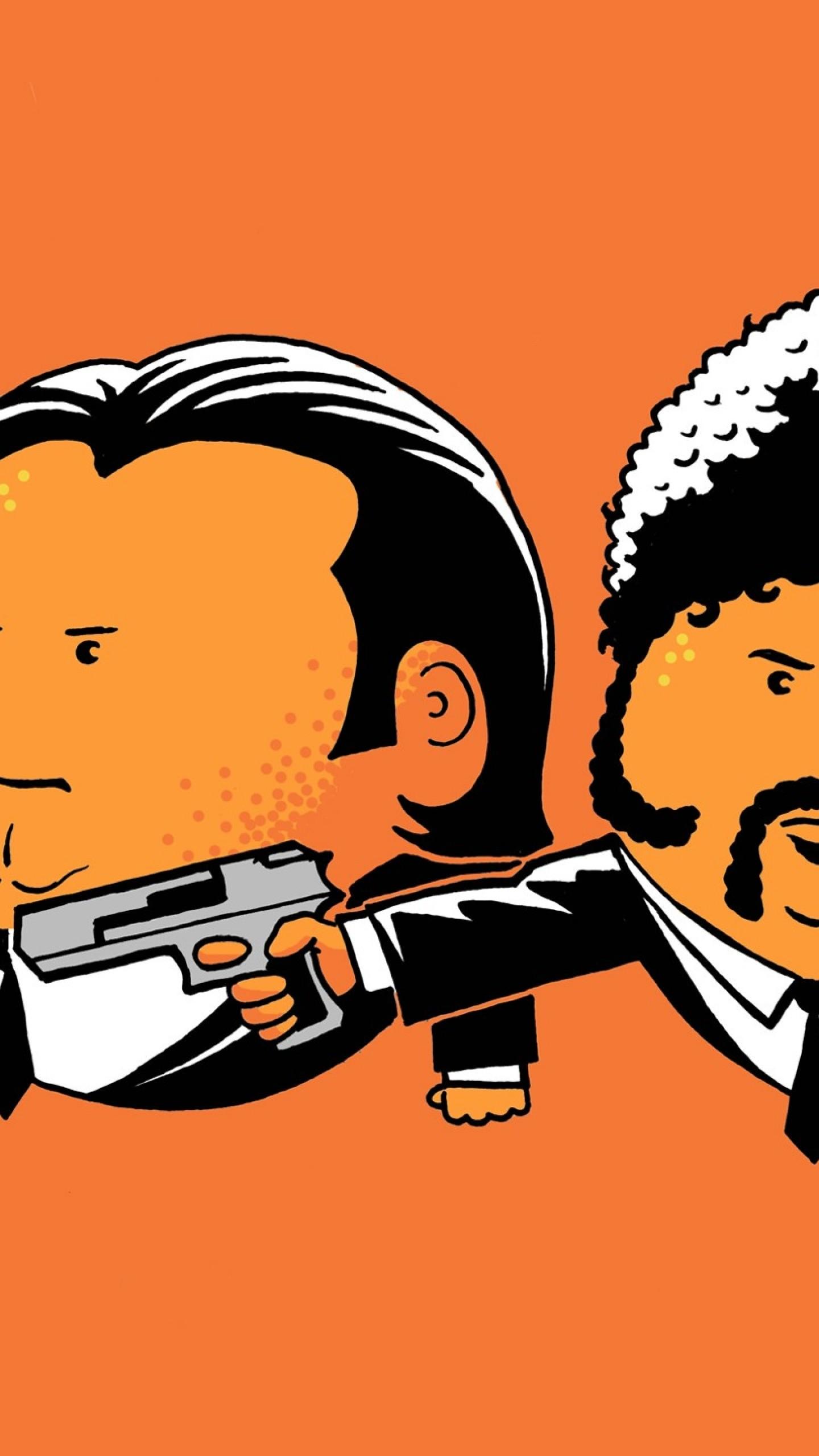 Preview wallpaper pulp fiction, john travolta, vincent vega, samuel l  jackson, jules