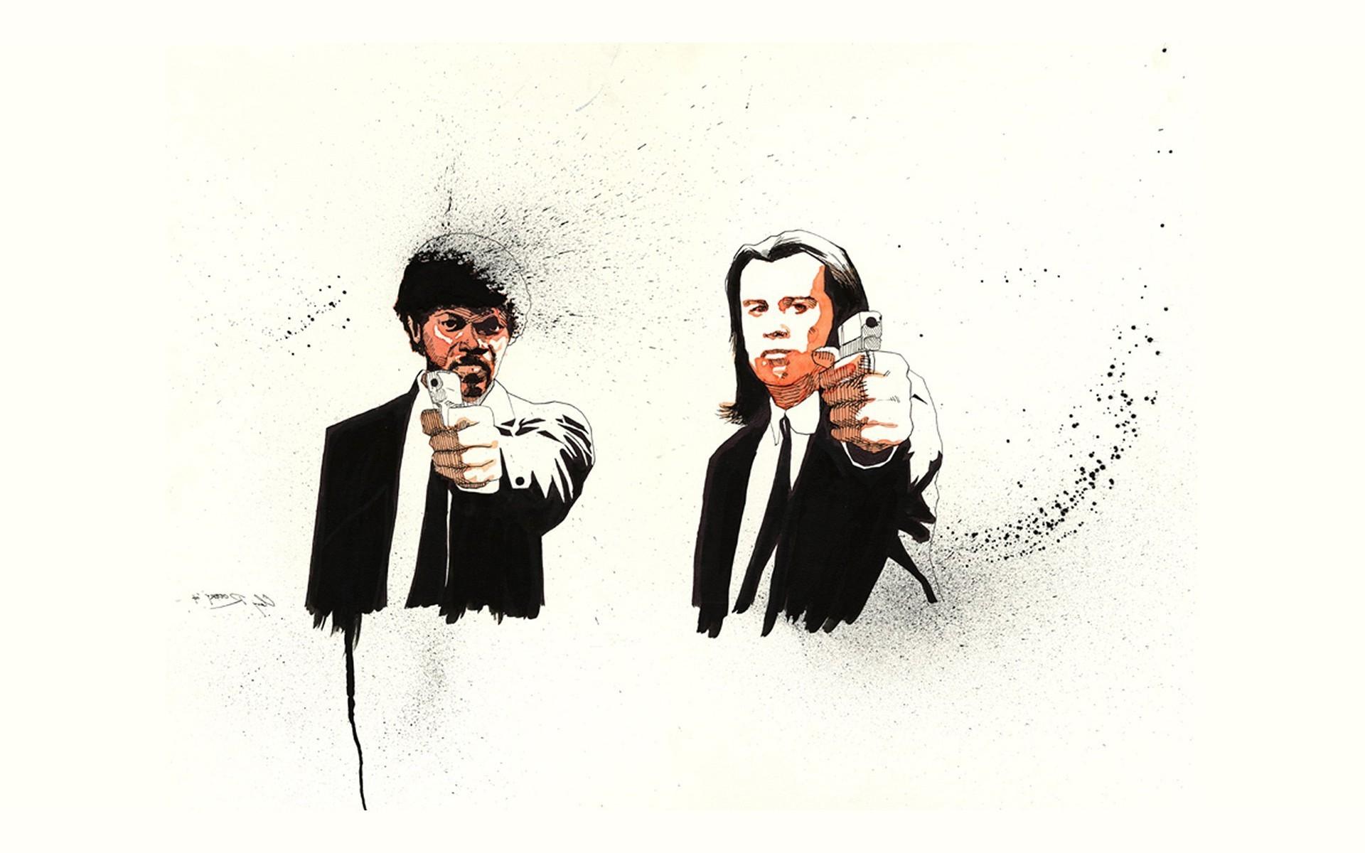 Pulp Fiction, Fan Art, Quentin Tarantino, Movies, Samuel L. Jackson  Wallpapers HD / Desktop and Mobile Backgrounds