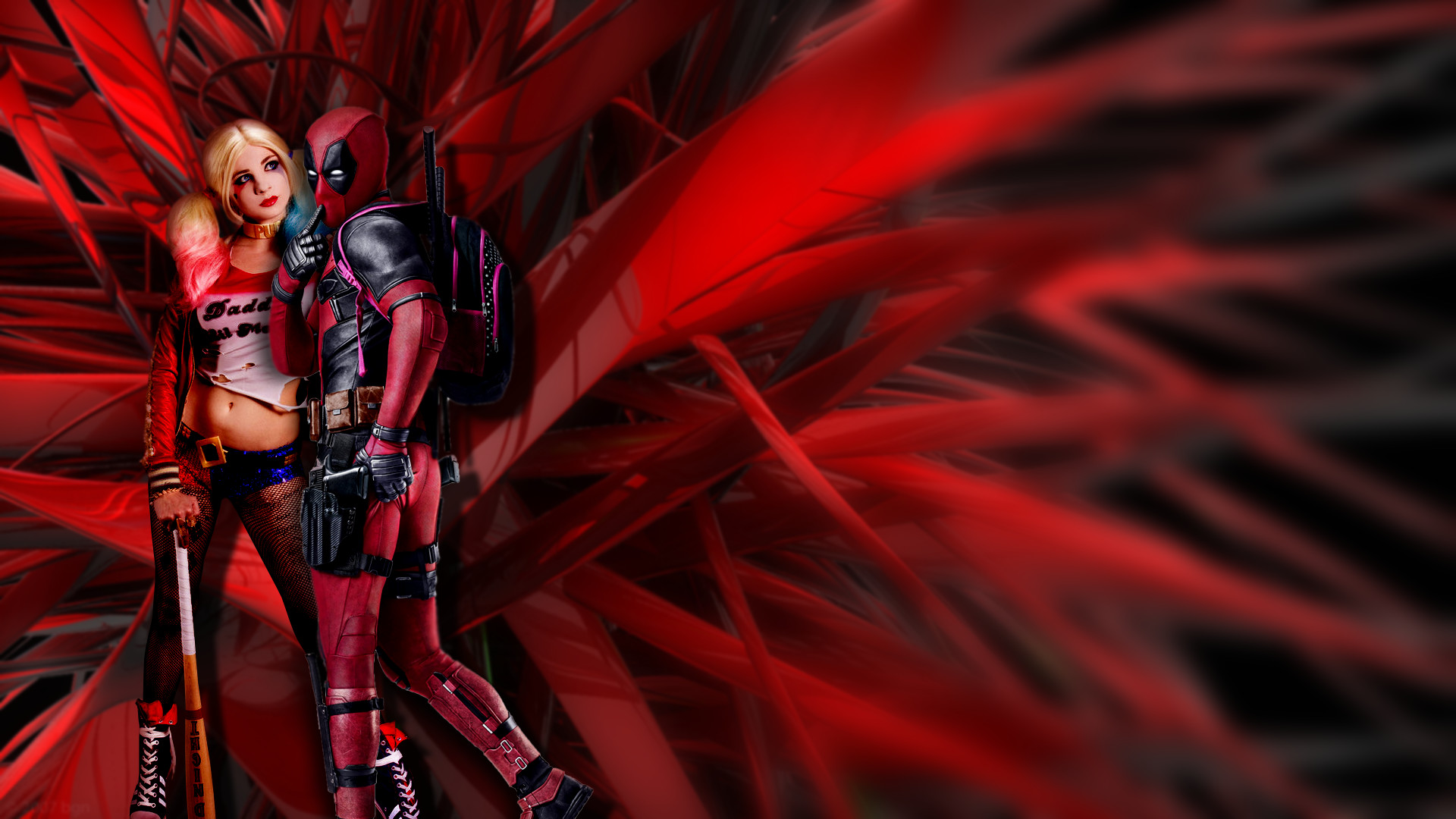 Harley and Deadpool by Boeingfreak Harley and Deadpool by Boeingfreak