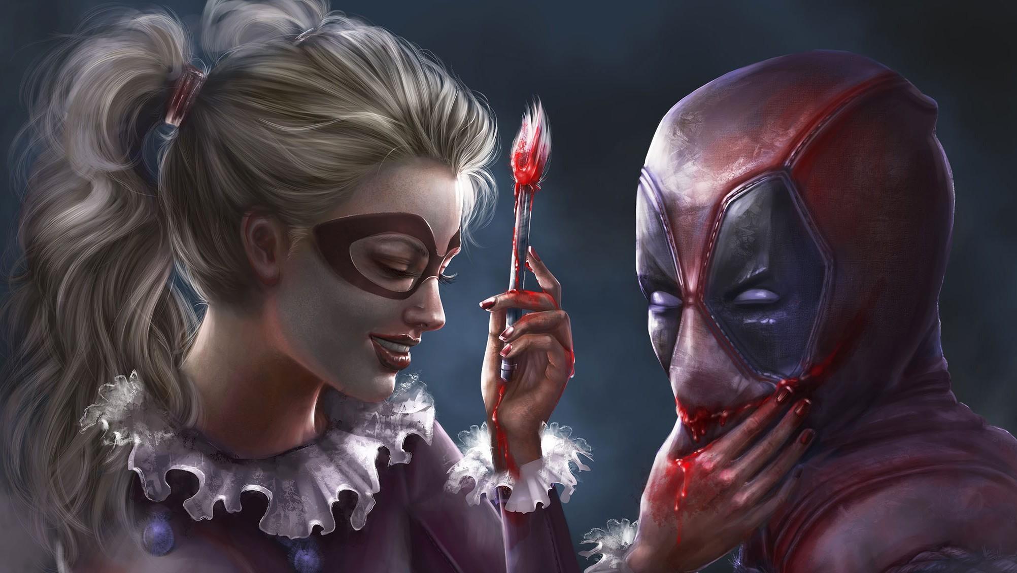 Harley Quinn, Deadpool, Artwork Wallpapers HD / Desktop and Mobile  Backgrounds