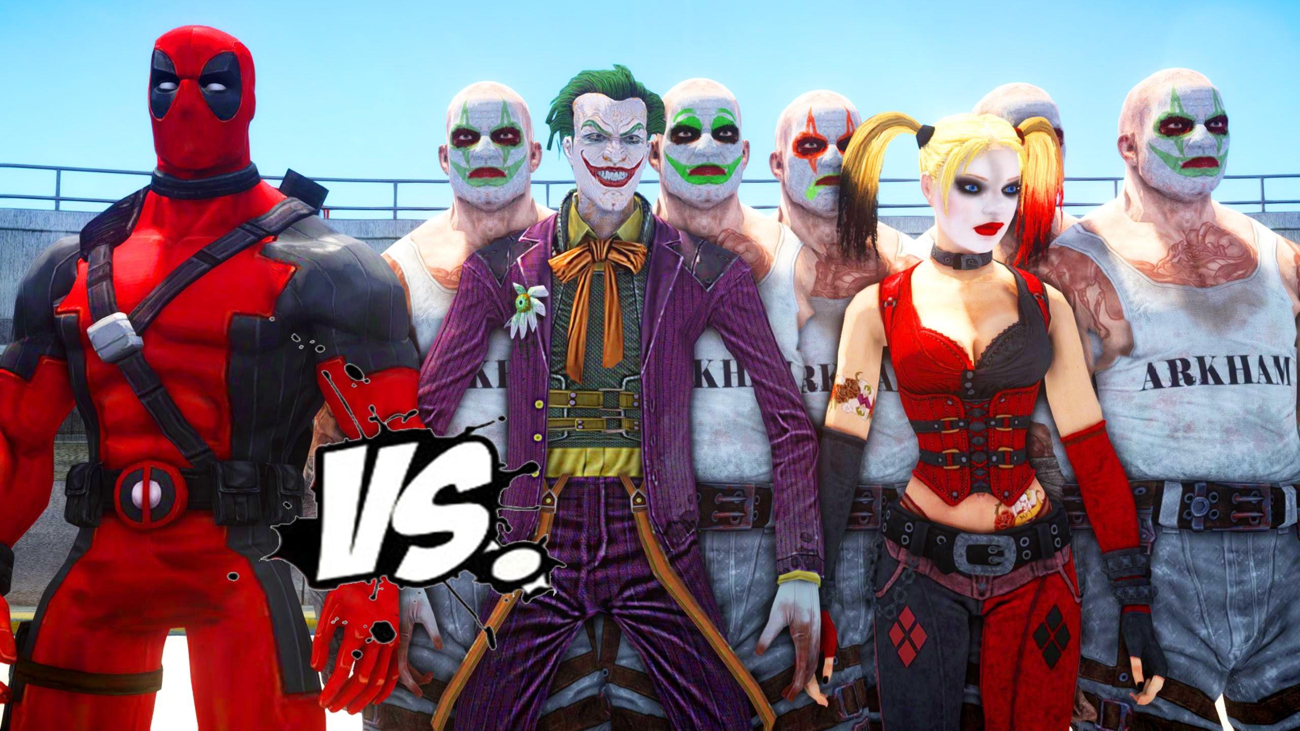 DEADPOOL VS JOKER & HARLEY QUINN – EPIC SUPERHEROES BATTLE | DEATH FIGHT –  YouTube
