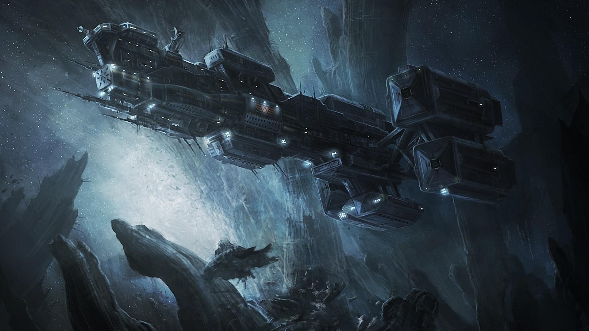 artwork, Digital Art, Spaceship, Alien (movie), Weyland Corporation, Space  Wallpapers HD / Desktop and Mobile Backgrounds