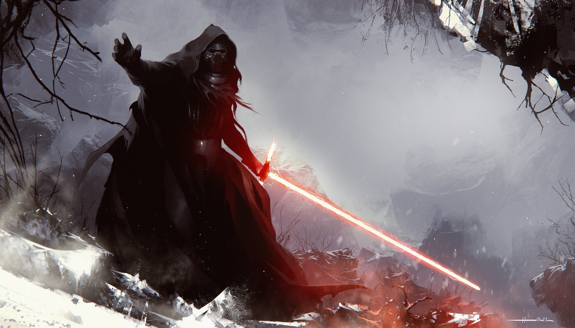 Movie – Star Wars Episode VII: The Force Awakens Kylo Ren Lightsaber Star  Wars Wallpaper