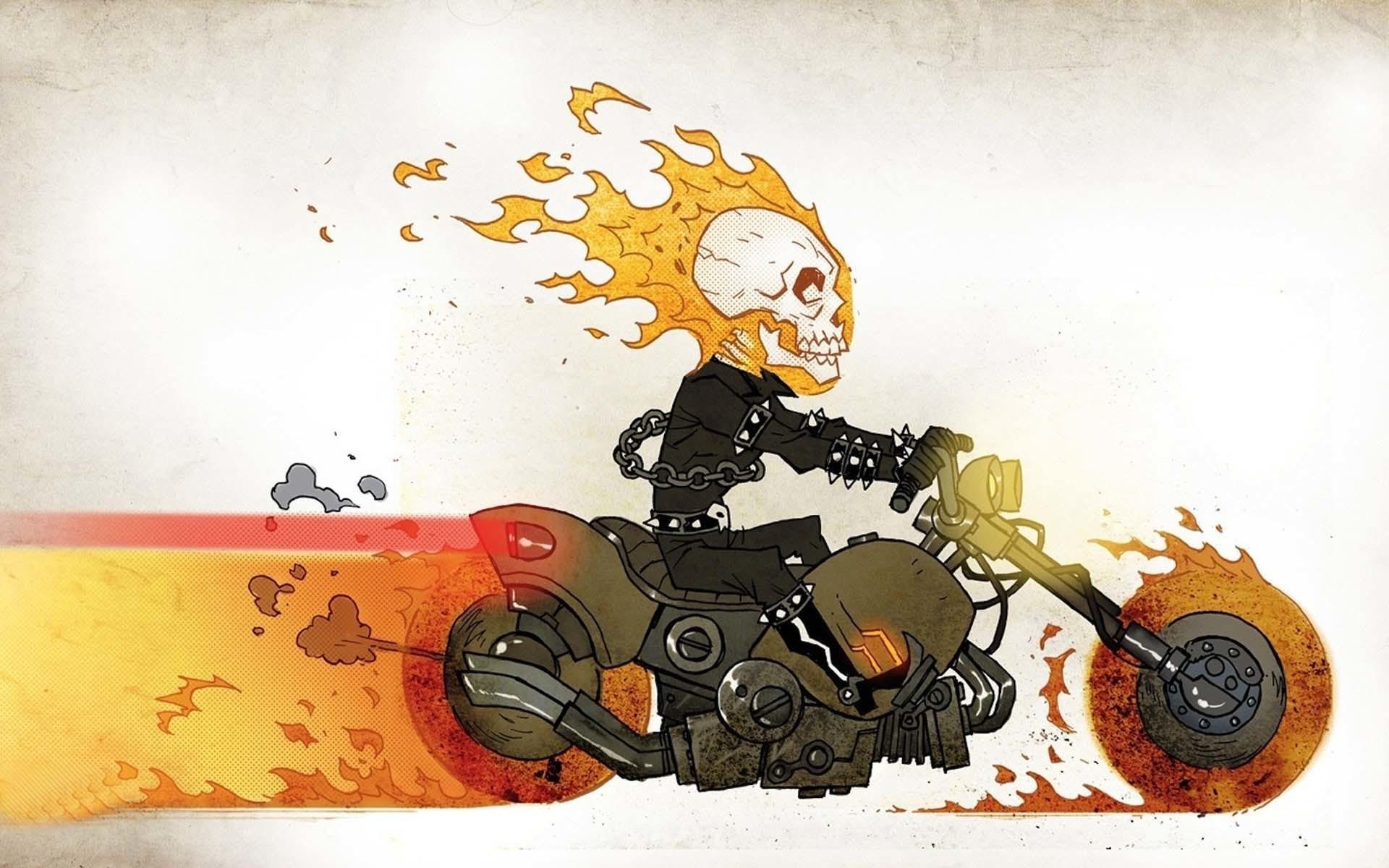 Ghost rider funny cartoon hd wallpaper free. Â«Â«