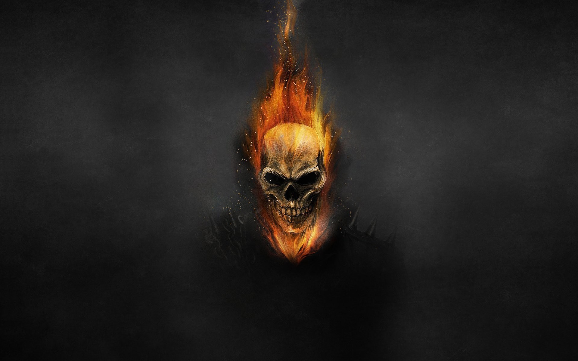 ghost rider ghost rider skeleton skull fire circuit dark background