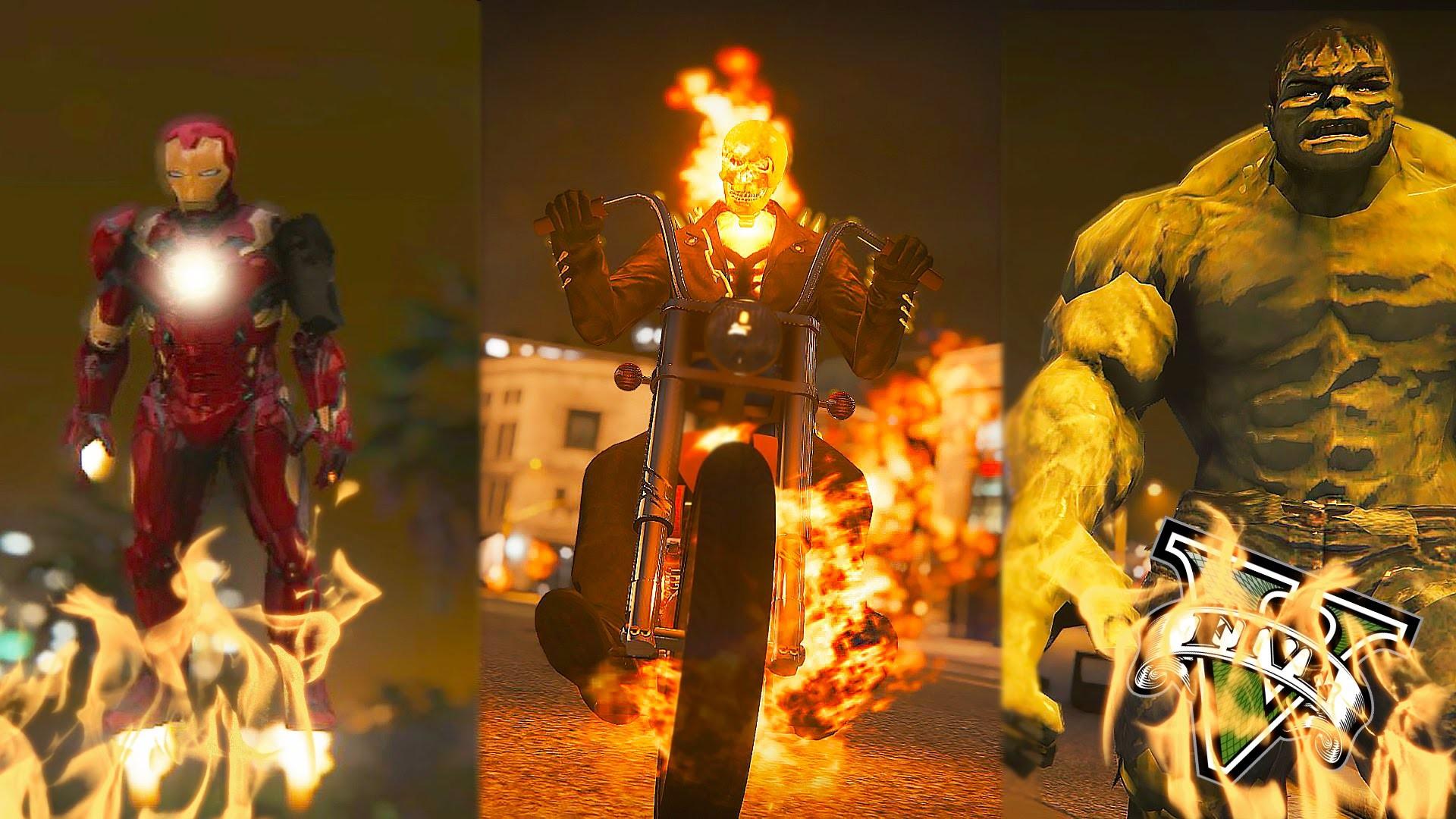 GTA 5 PC – Ghost Rider VS Ironman and Hulk ! Evil Shall Burn ! (Ghost Rider  Mod Gameplay) – YouTube
