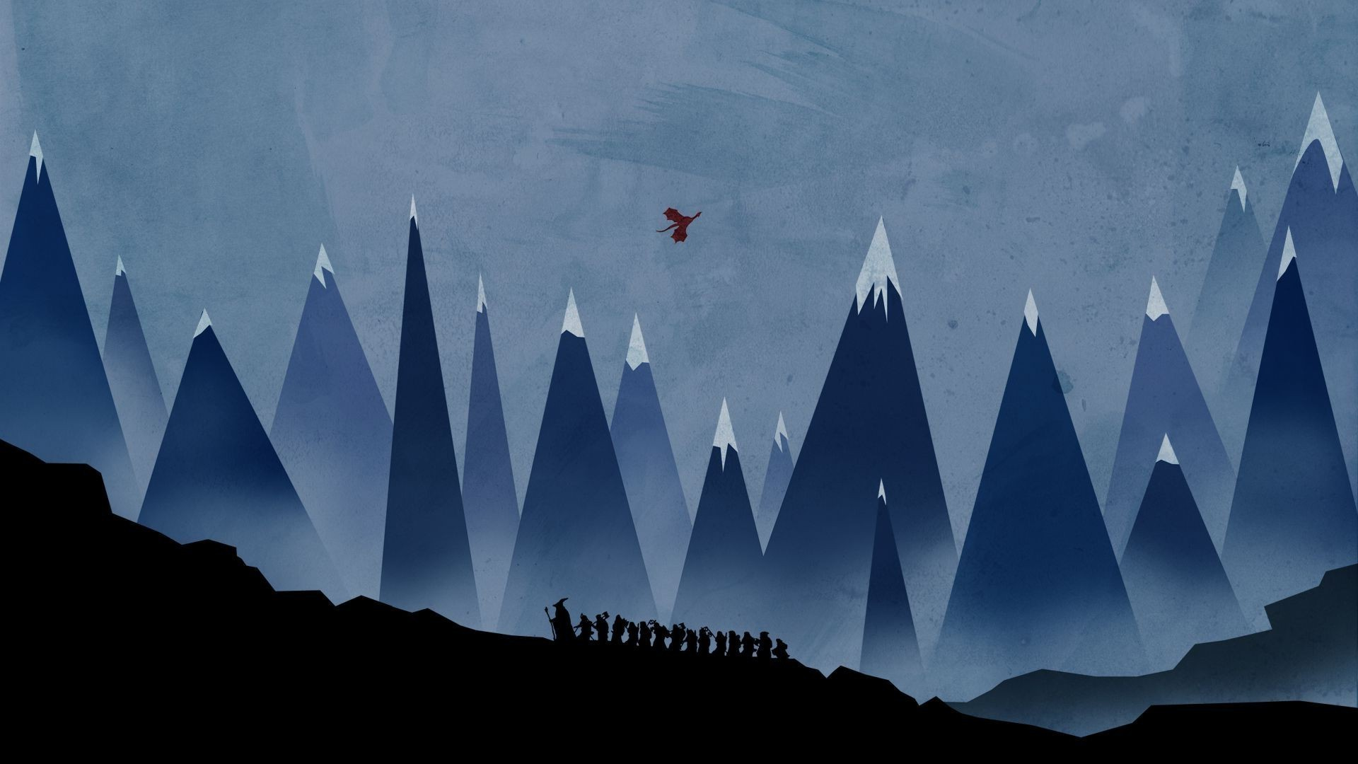 The Hobbit, Minimalism, Gandalf, Mountain, Smaug Wallpapers HD / Desktop  and Mobile Backgrounds