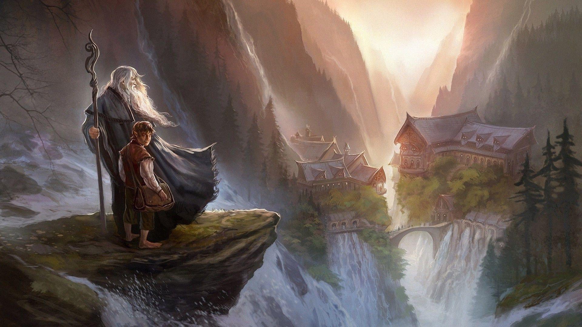 Gandalf and Bilbo Baggins – The Hobbit wallpaper #