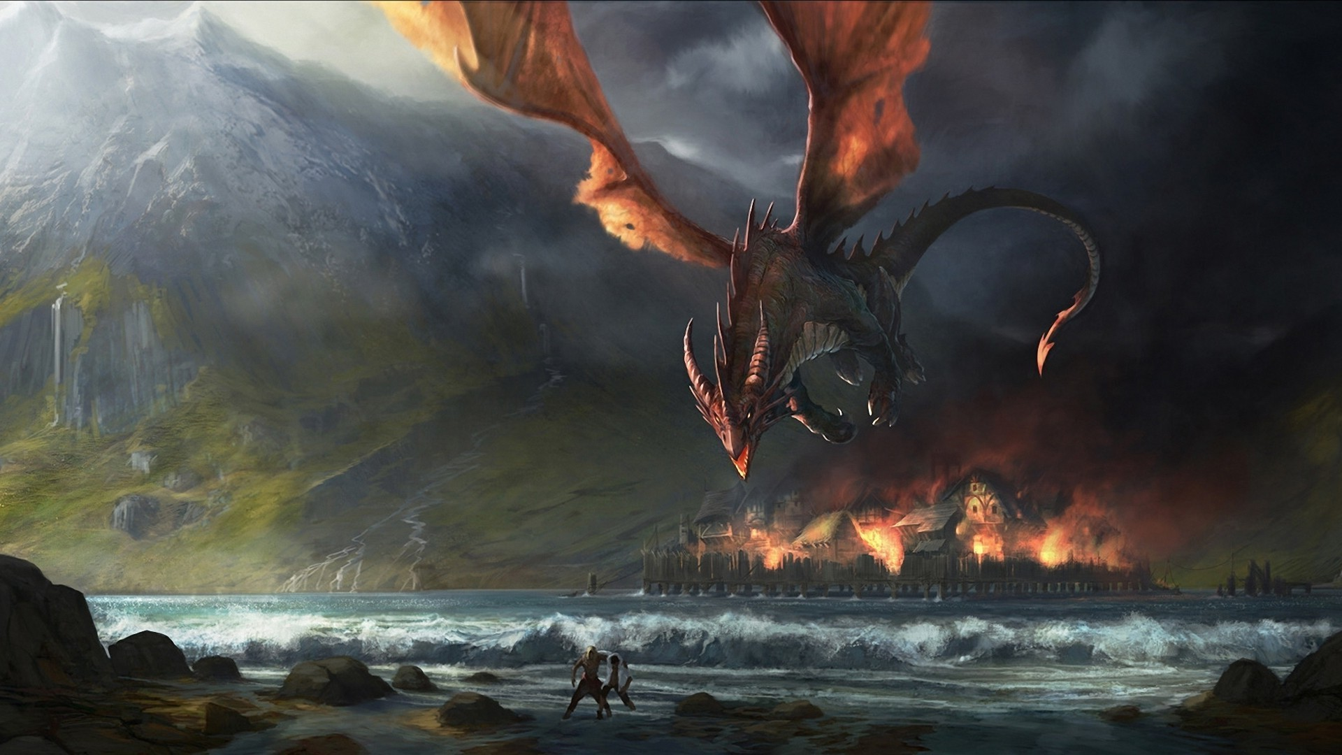 J. R. R. Tolkien, Fantasy Art, Dragon, The Hobbit, Smaug, The Lord Of The  Rings Wallpapers HD / Desktop and Mobile Backgrounds