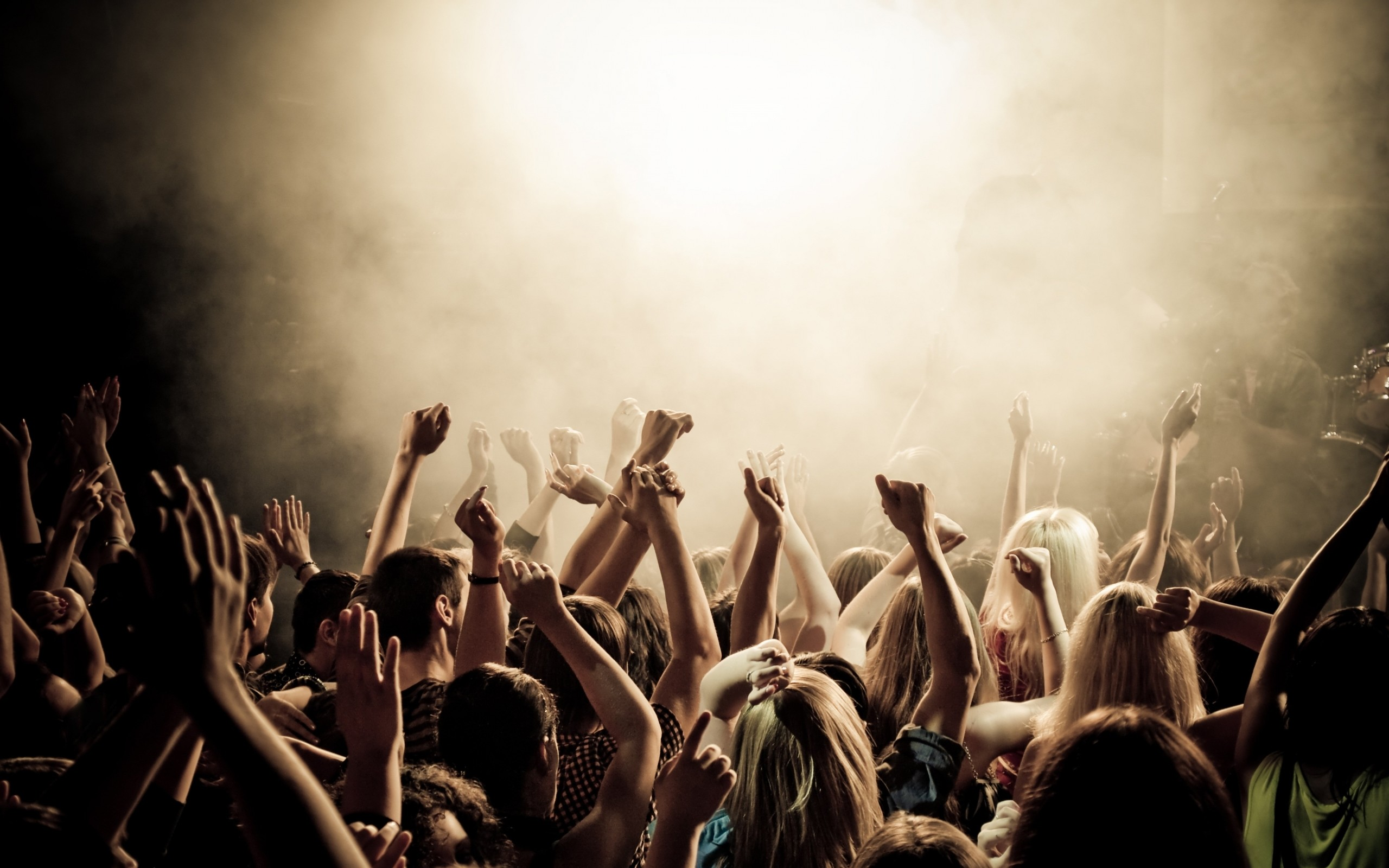 smoke hands people crowd concert arms raised 3648×2736 wallpaper Art HD  Wallpaper