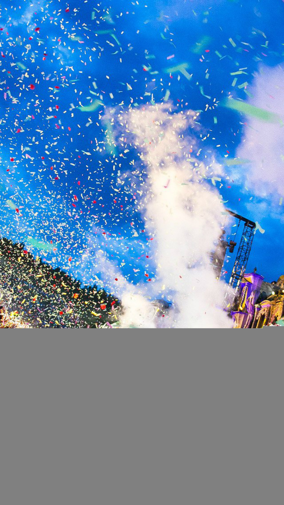 Tomorrowland Festival Concert Confetti iPhone 8 wallpaper