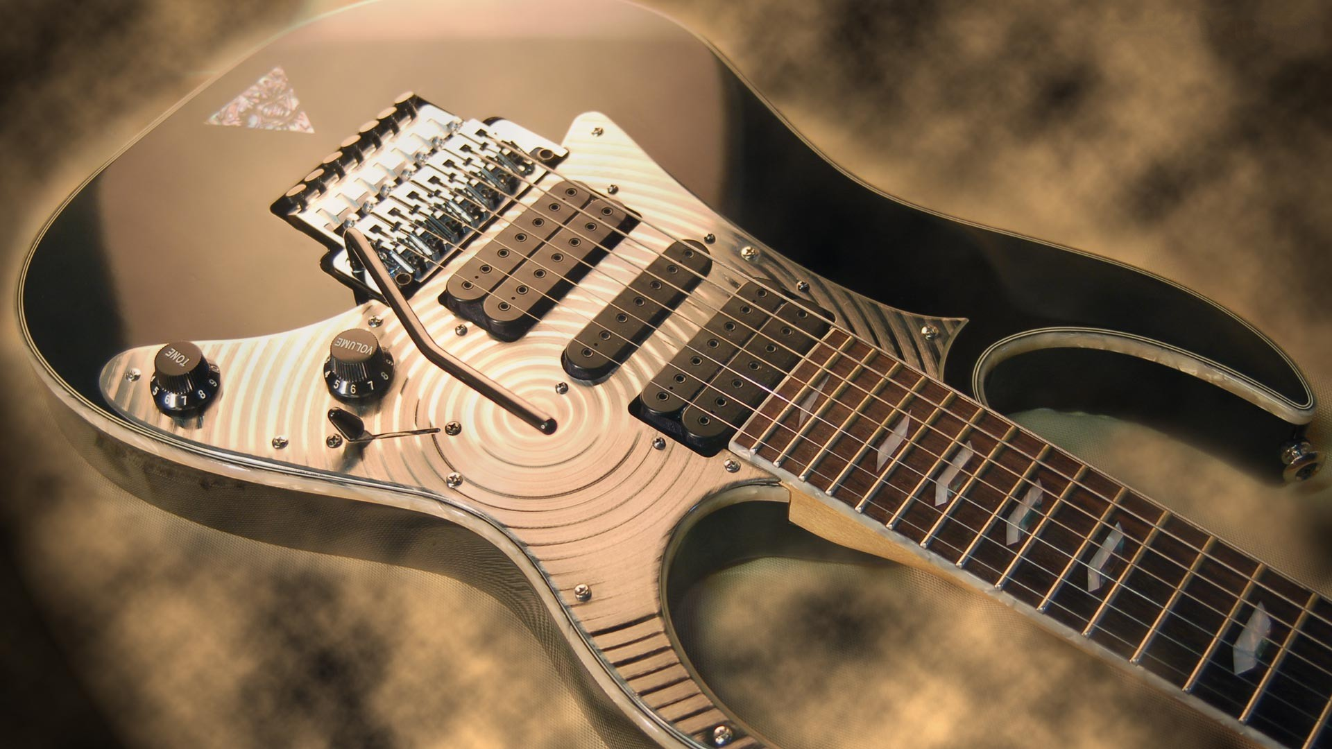 Bass Guitar HD Background.