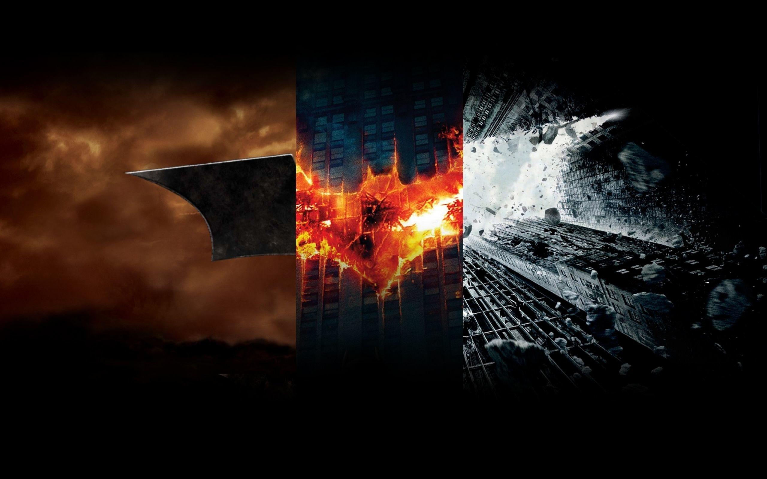 Batman Trilogy Logo HD Wallpaper